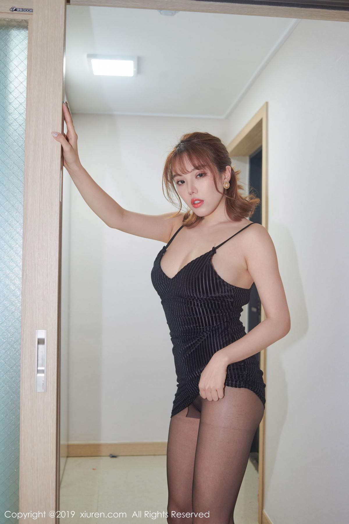 [XiuRen] Vol.1630 Huang Le Ran 6P, Black Silk, Huang Le Ran, Underwear, Xiuren