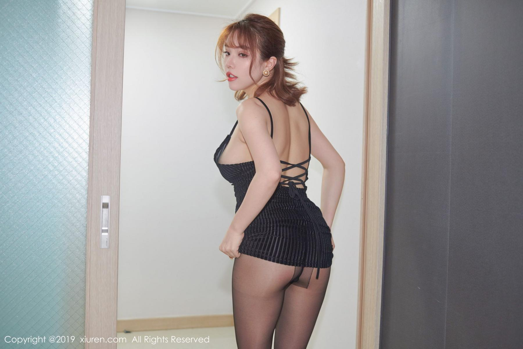 [XiuRen] Vol.1630 Huang Le Ran 7P, Black Silk, Huang Le Ran, Underwear, Xiuren