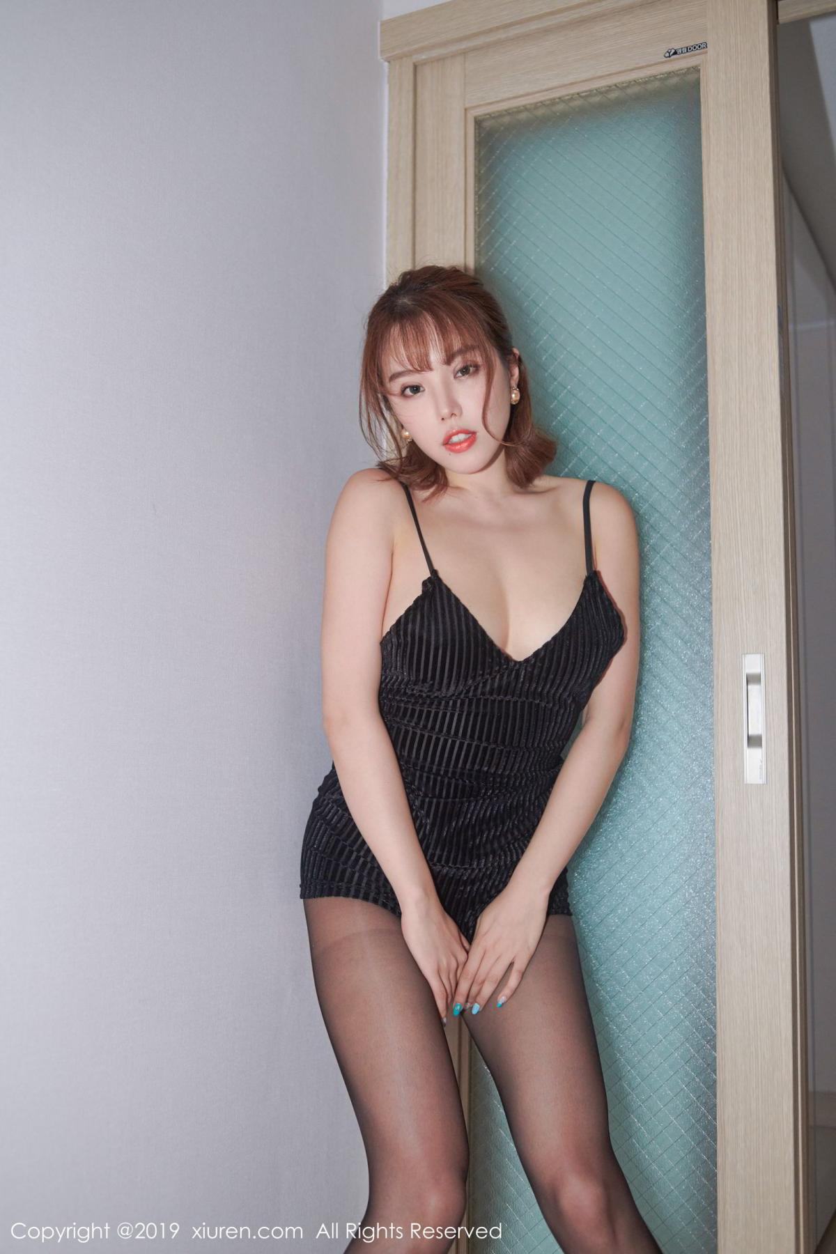 [XiuRen] Vol.1630 Huang Le Ran 9P, Black Silk, Huang Le Ran, Underwear, Xiuren
