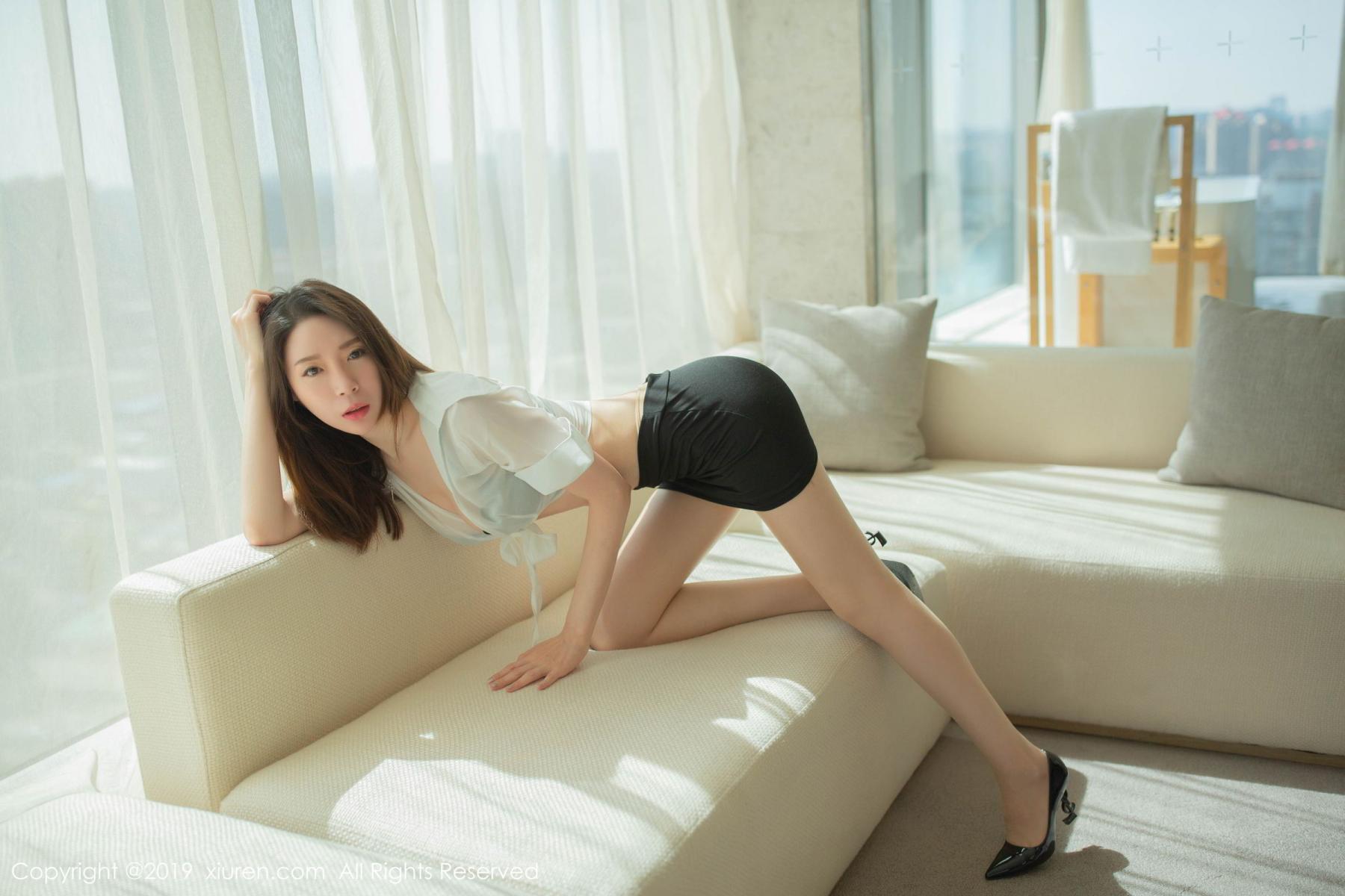 [XiuRen] Vol.1645 Meng Xin Yue 17P, Meng Xin Yue, Underwear, Uniform, Xiuren