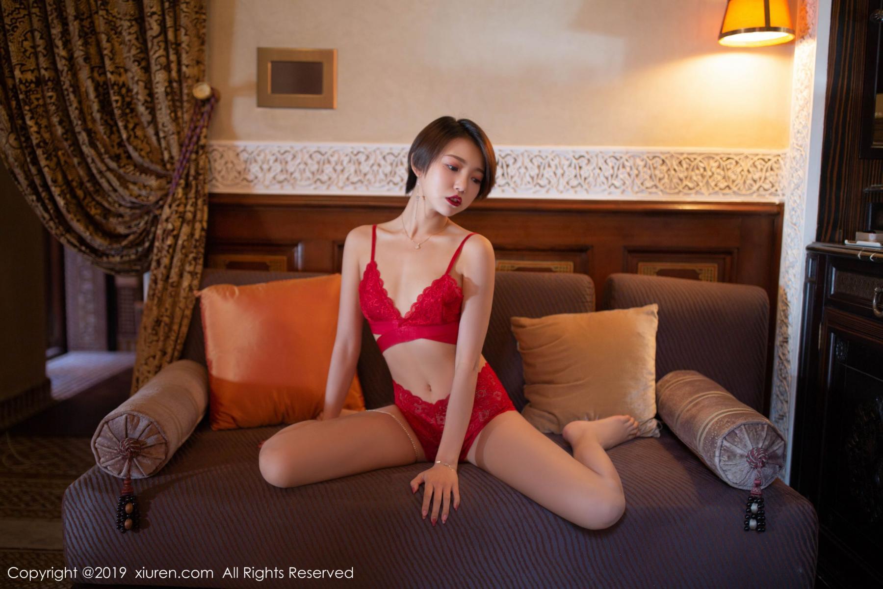 [XiuRen] Vol.1646 Feng Mu Mu 4P, Feng Mu Mu, Slim, Underwear, Xiuren