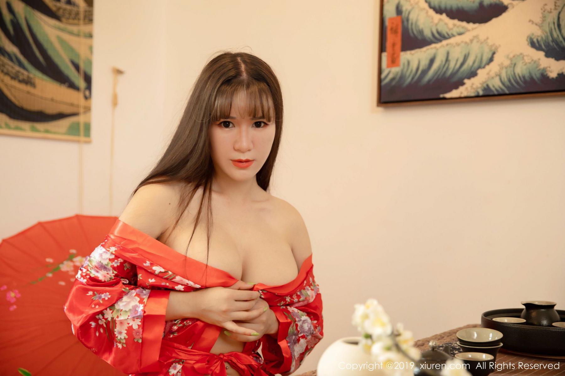 [XiuRen] Vol.1647 Wang Zi Lin 12P, Adult, Kimono, Mature, Wang Zi Lin, Xiuren