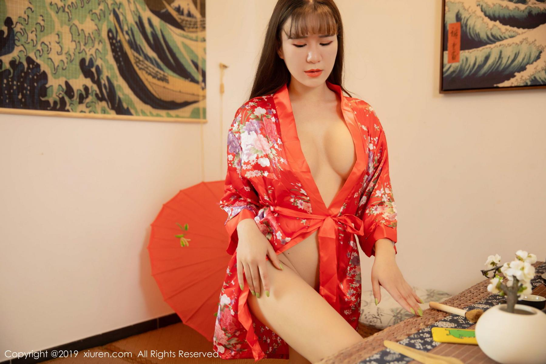 [XiuRen] Vol.1647 Wang Zi Lin 34P, Adult, Kimono, Mature, Wang Zi Lin, Xiuren