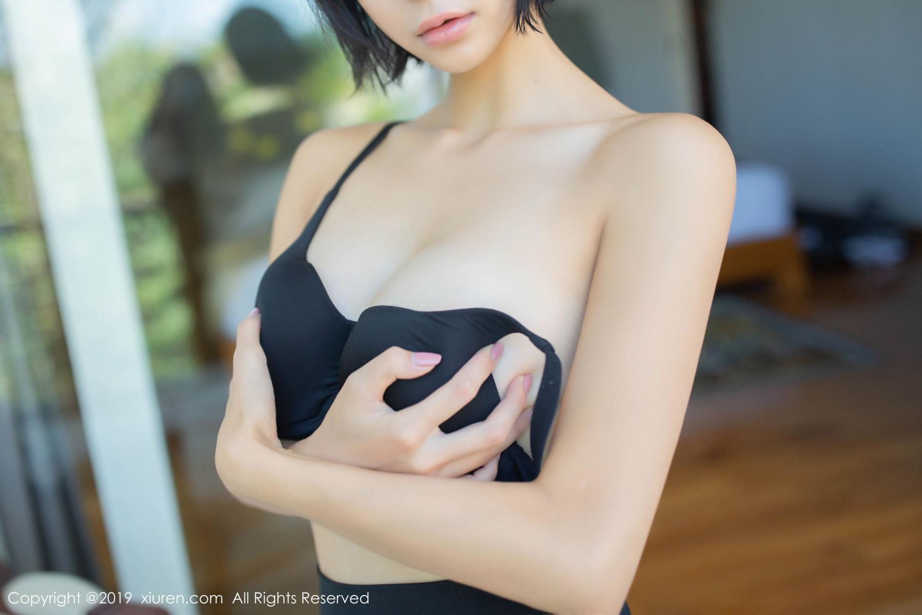 [XiuRen] Vol.1649 Liu Yi Lei 21P, Black Silk, Liu Yi Lei, Underwear, Xiuren