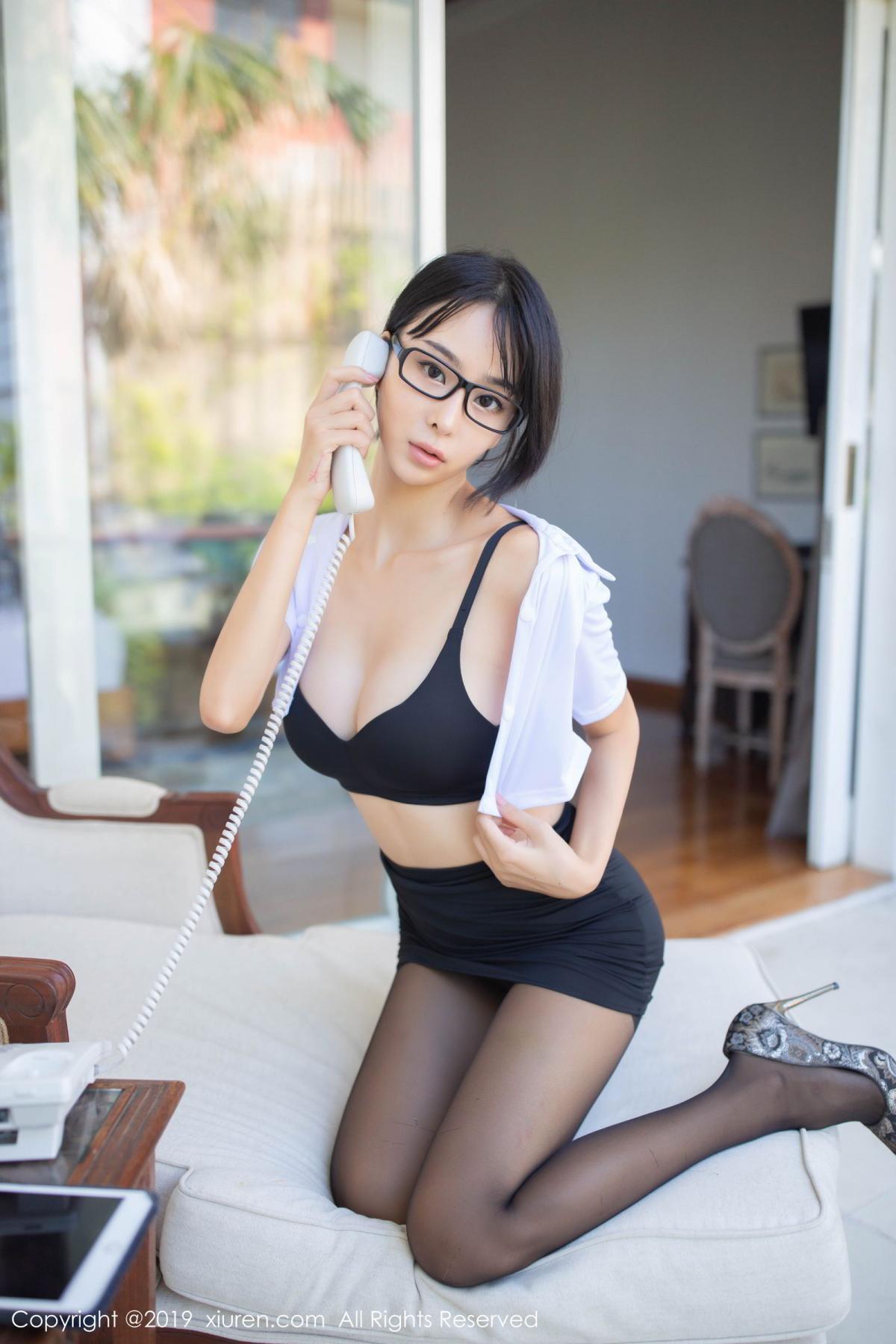 [XiuRen] Vol.1649 Liu Yi Lei 9P, Black Silk, Liu Yi Lei, Underwear, Xiuren