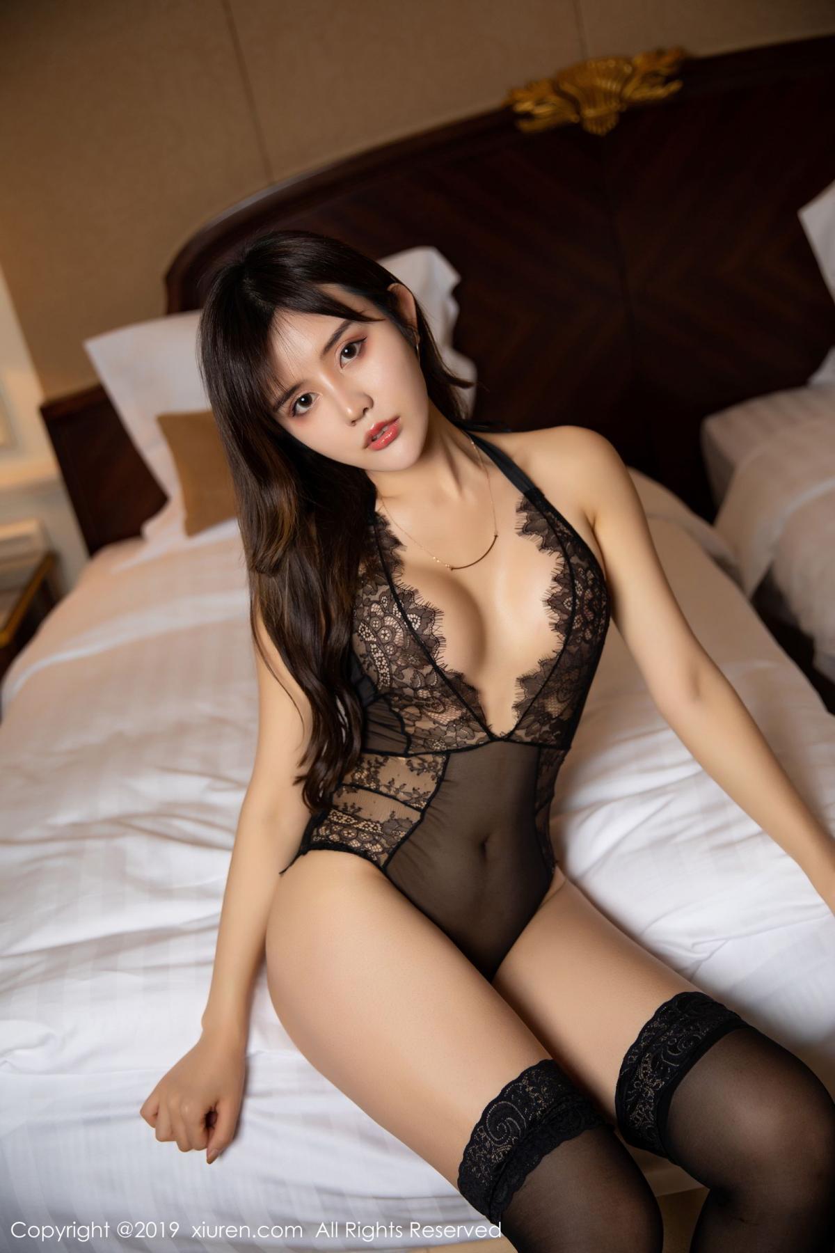 [XiuRen] Vol.1658 Zhuo Ya Qi 10P, Black Silk, Underwear, Xiuren, Zhuo Ya Qi