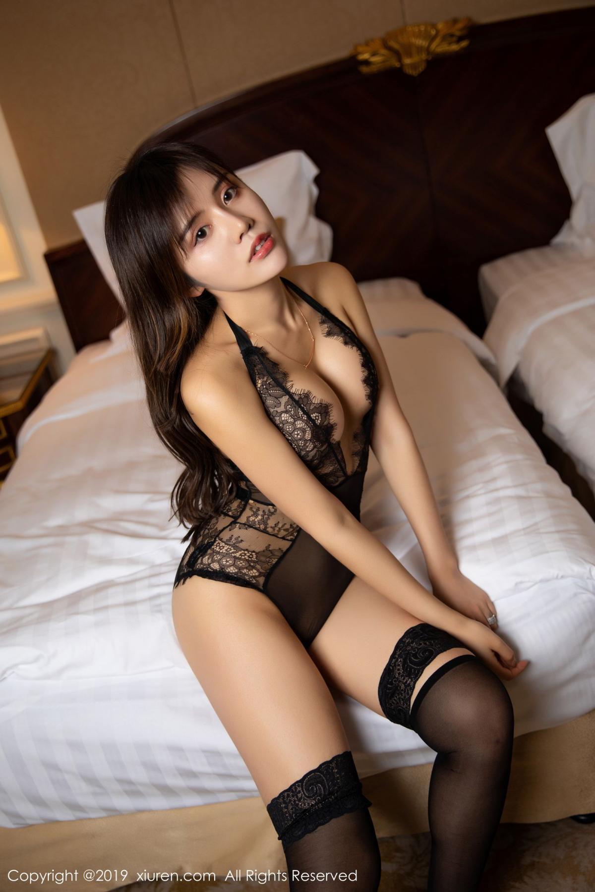 [XiuRen] Vol.1658 Zhuo Ya Qi 4P, Black Silk, Underwear, Xiuren, Zhuo Ya Qi