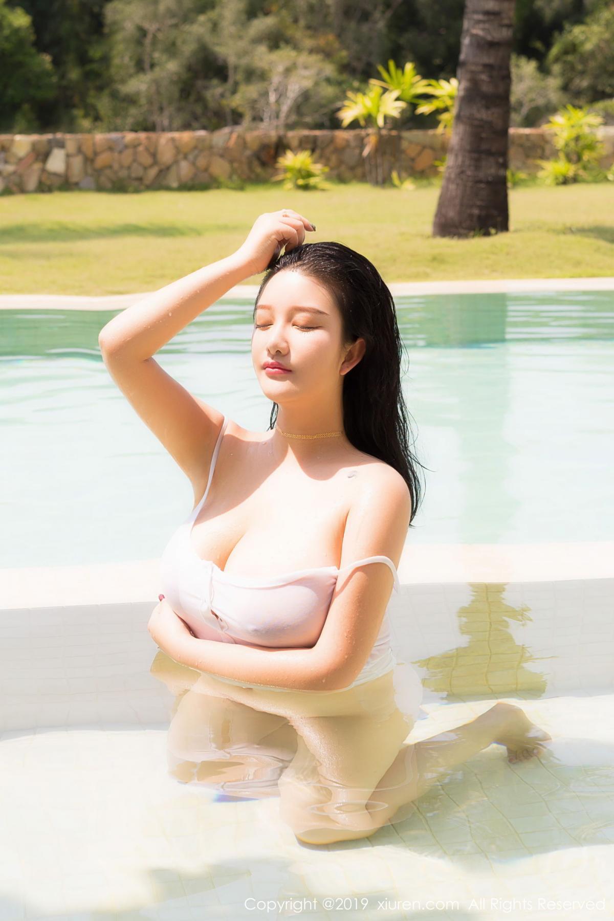 [XiuRen] Vol.1661 Lu Lu Xiao Miao 54P, Bikini, Lu Lu Xiao Miao, Swim Pool, Wet, Xiuren