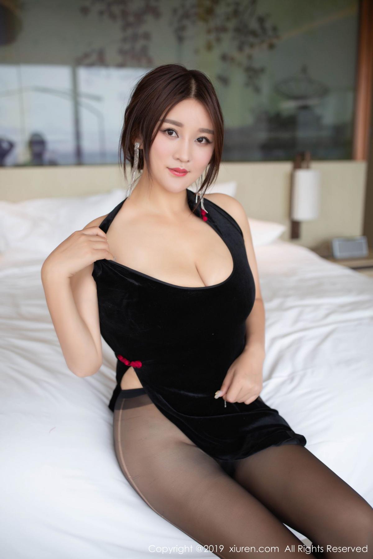 [XiuRen] Vol.1663 Pan Lin Lin 30P, Black Silk, Cheongsam, Pan Lin Lin, Xiuren