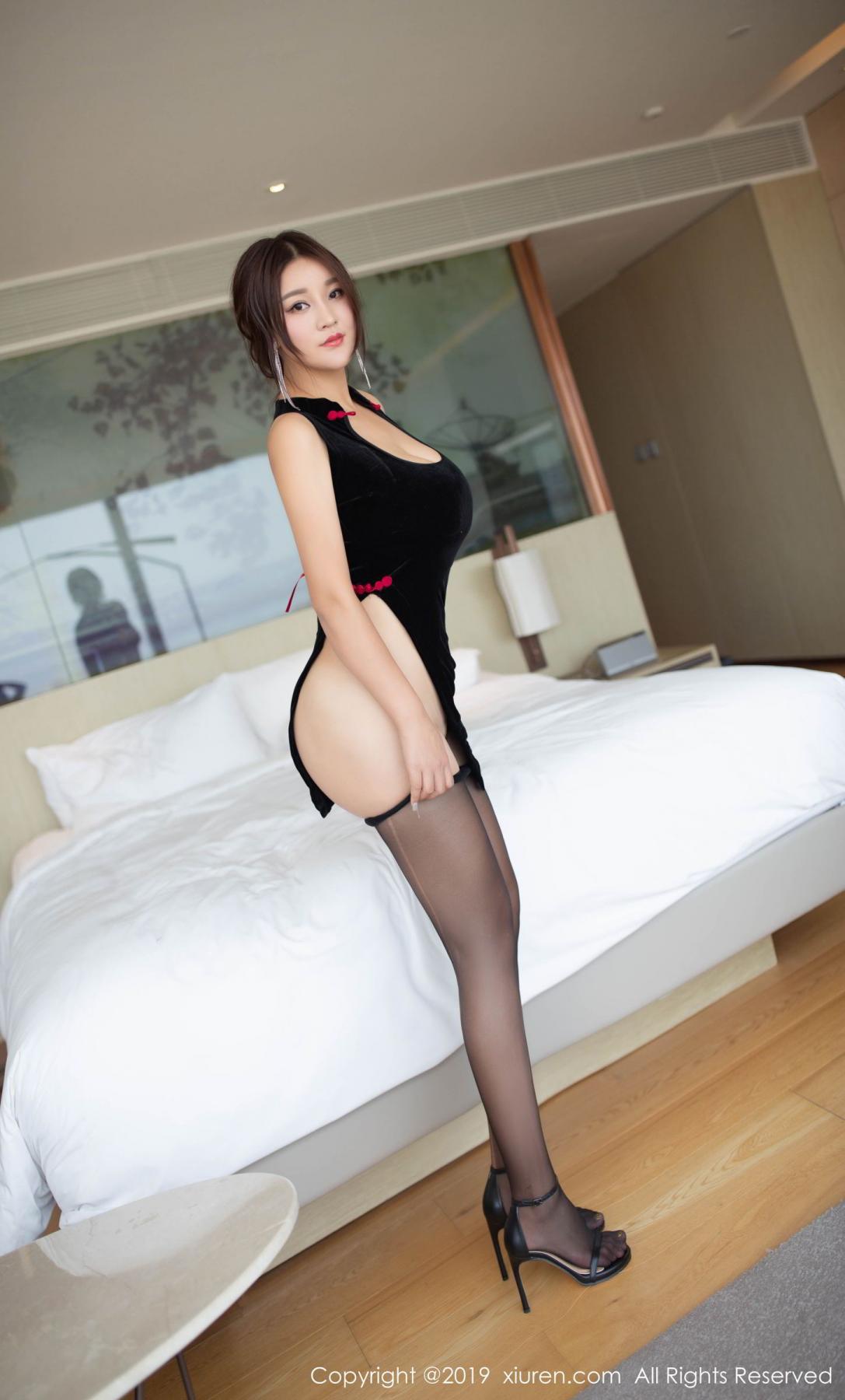 [XiuRen] Vol.1663 Pan Lin Lin 32P, Black Silk, Cheongsam, Pan Lin Lin, Xiuren