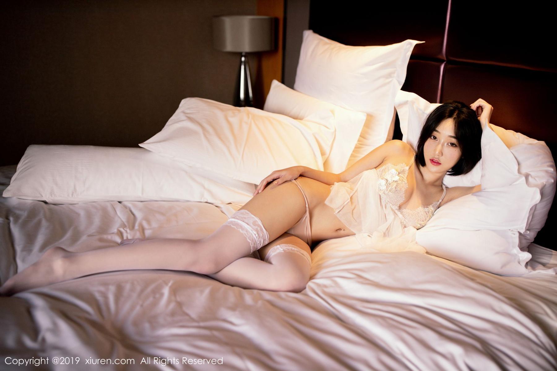 [XiuRen] Vol.1665 Xiao Jiu Yue 3P, Underwear, Wet, Xiao Jiu Yue, Xiuren