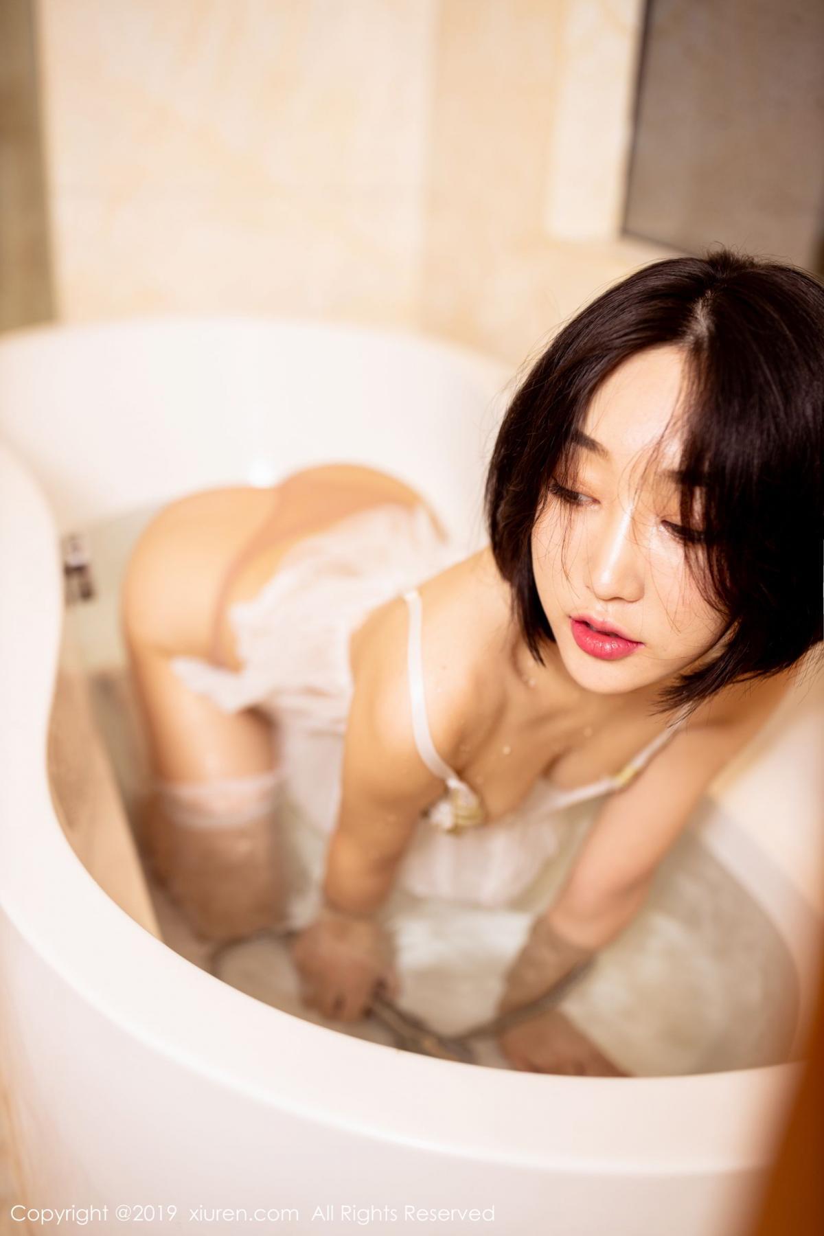 [XiuRen] Vol.1665 Xiao Jiu Yue 58P, Underwear, Wet, Xiao Jiu Yue, Xiuren