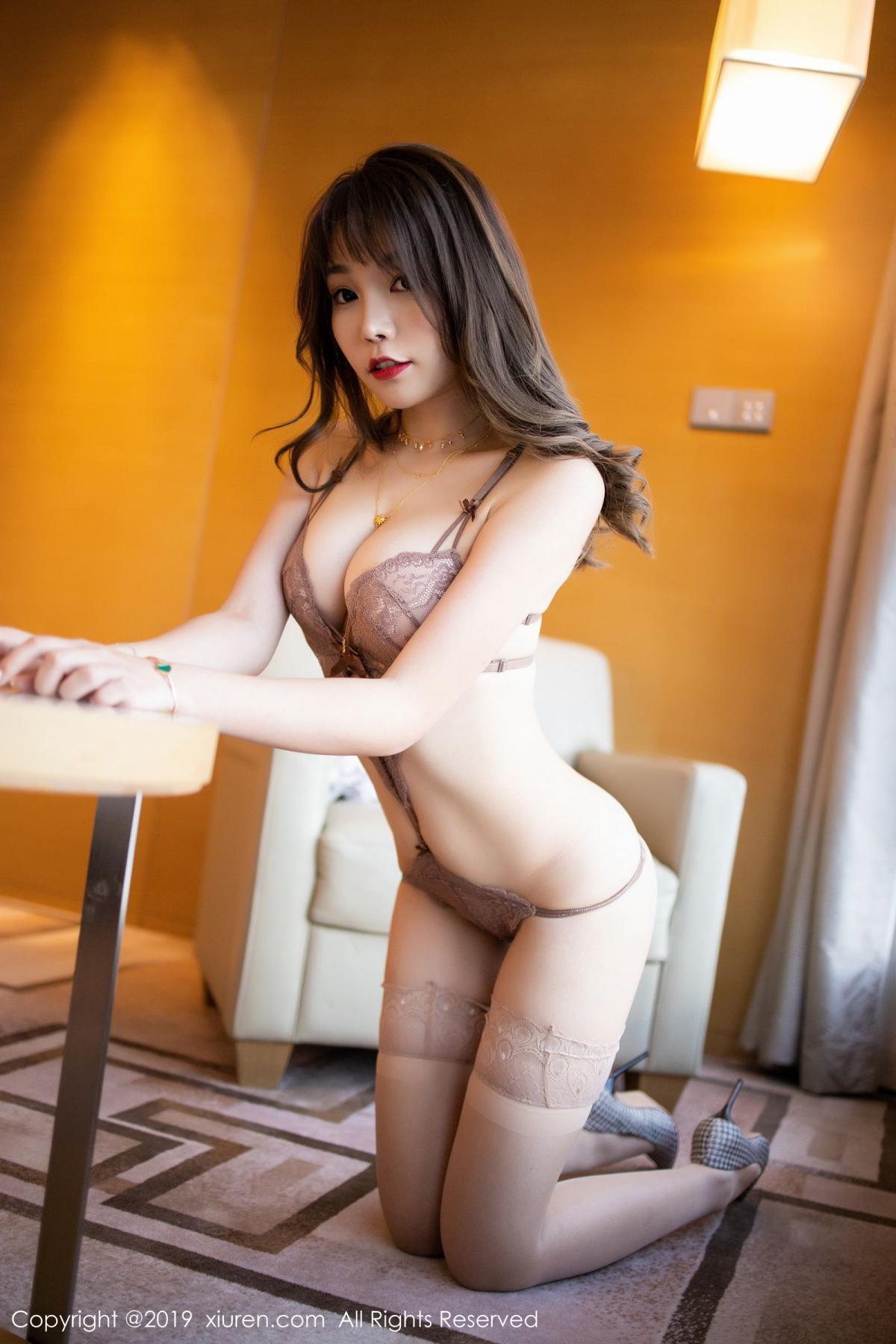 [XiuRen] Vol.1675 Chen Zhi 46P, Chen Zhi, Cheongsam, Tall, Underwear, Xiuren
