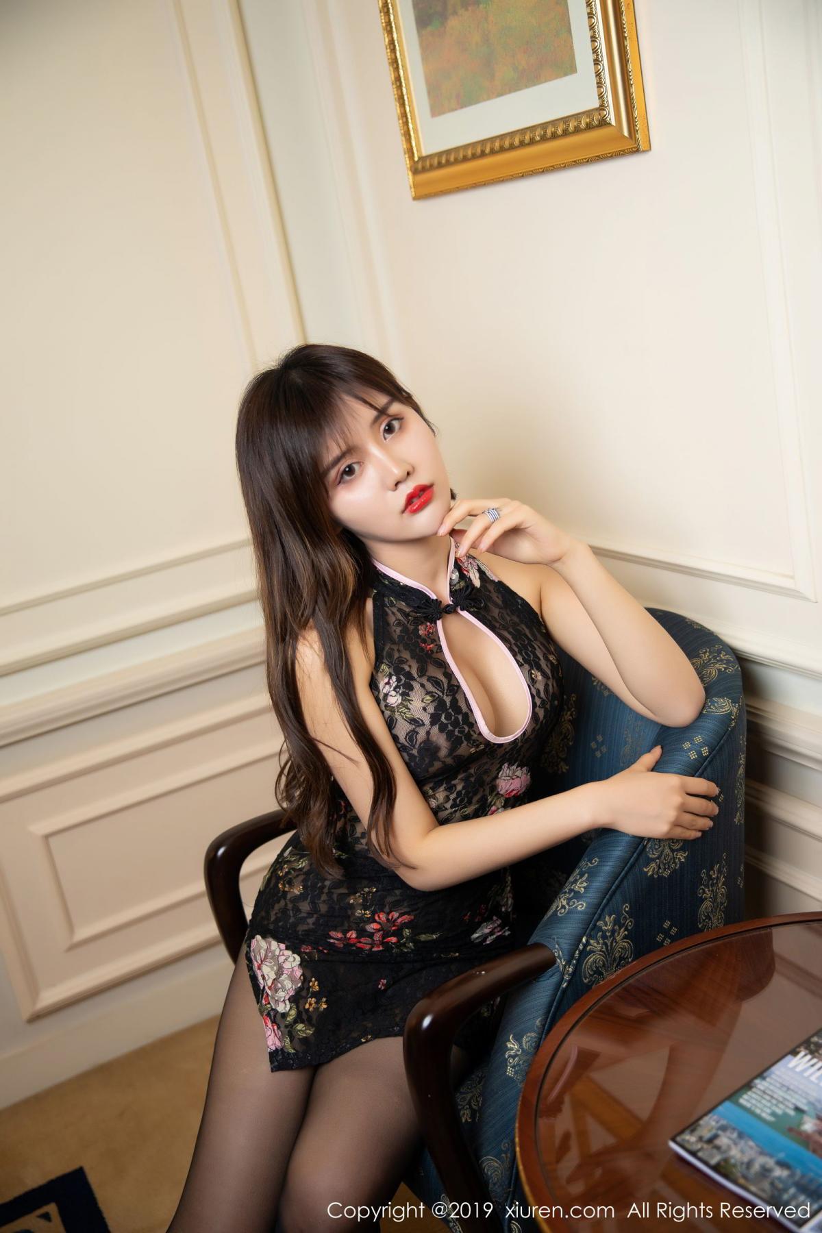 [XiuRen] Vol.1677 Zhuo Ya Qi 10P, Black Silk, Underwear, Xiuren, Zhuo Ya Qi