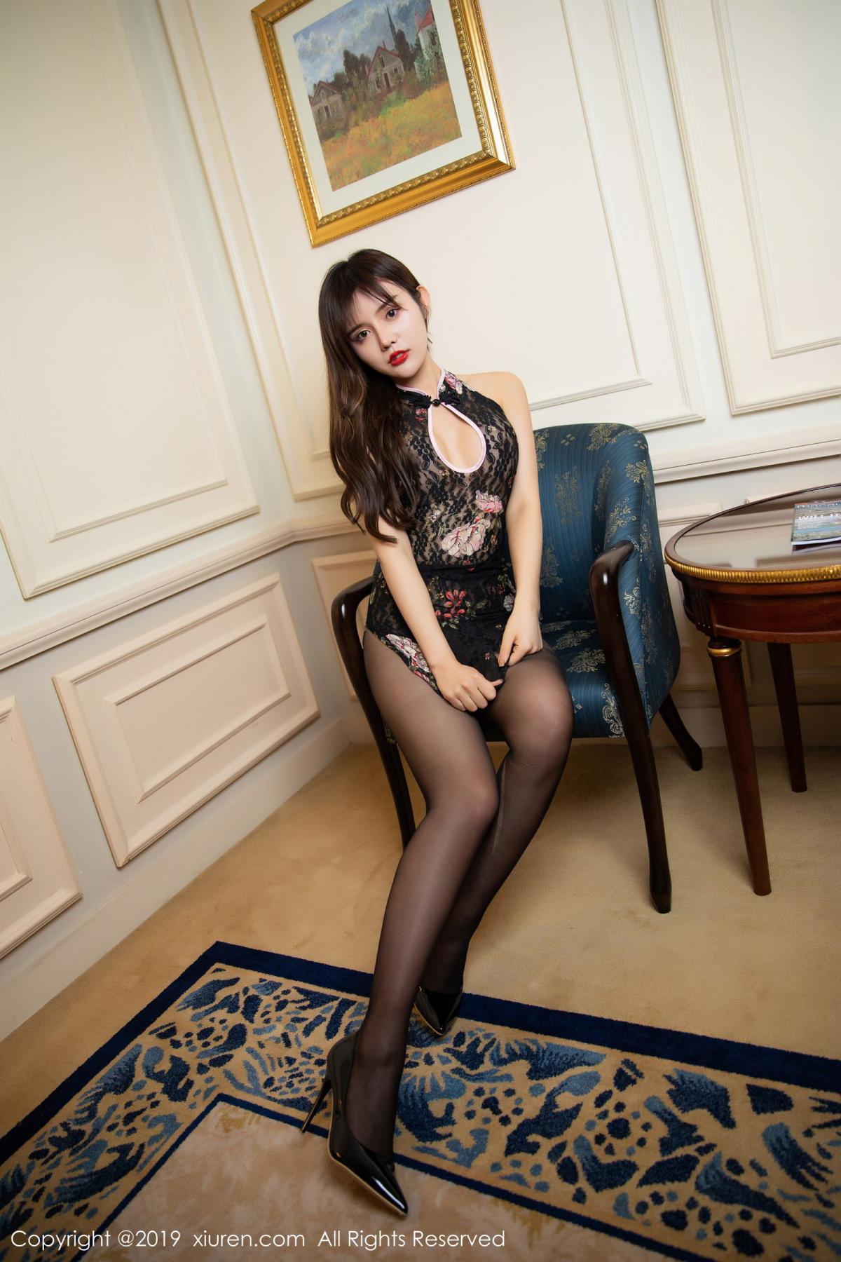 [XiuRen] Vol.1677 Zhuo Ya Qi 11P, Black Silk, Underwear, Xiuren, Zhuo Ya Qi