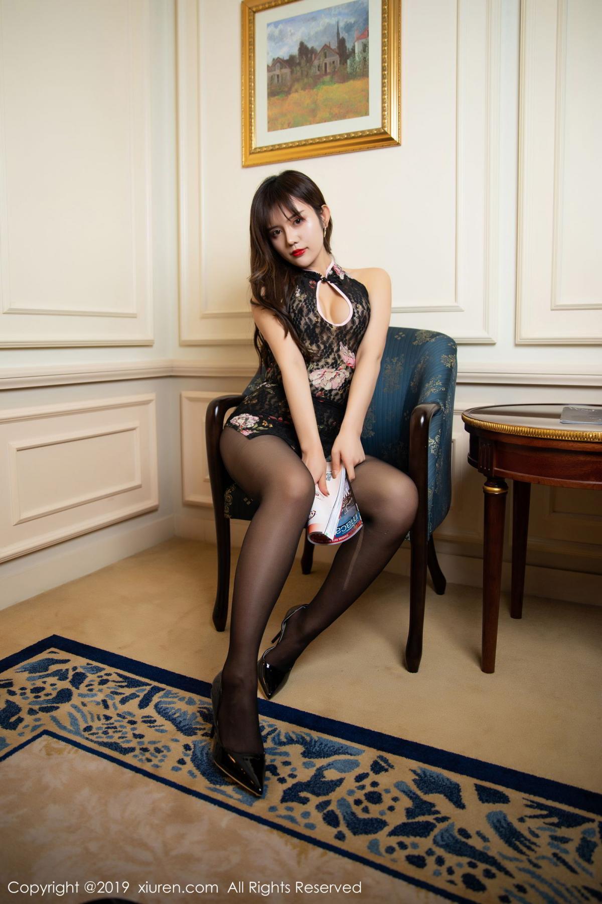 [XiuRen] Vol.1677 Zhuo Ya Qi 15P, Black Silk, Underwear, Xiuren, Zhuo Ya Qi