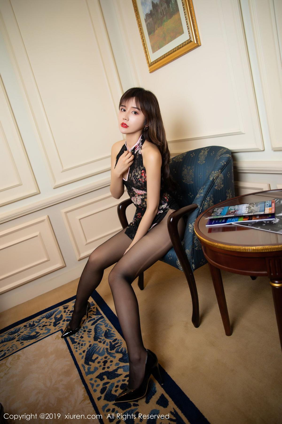 [XiuRen] Vol.1677 Zhuo Ya Qi 28P, Black Silk, Underwear, Xiuren, Zhuo Ya Qi