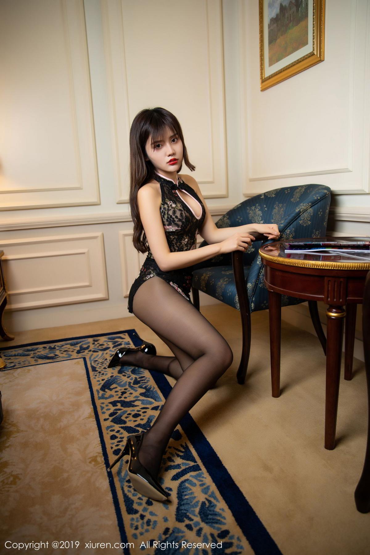 [XiuRen] Vol.1677 Zhuo Ya Qi 31P, Black Silk, Underwear, Xiuren, Zhuo Ya Qi