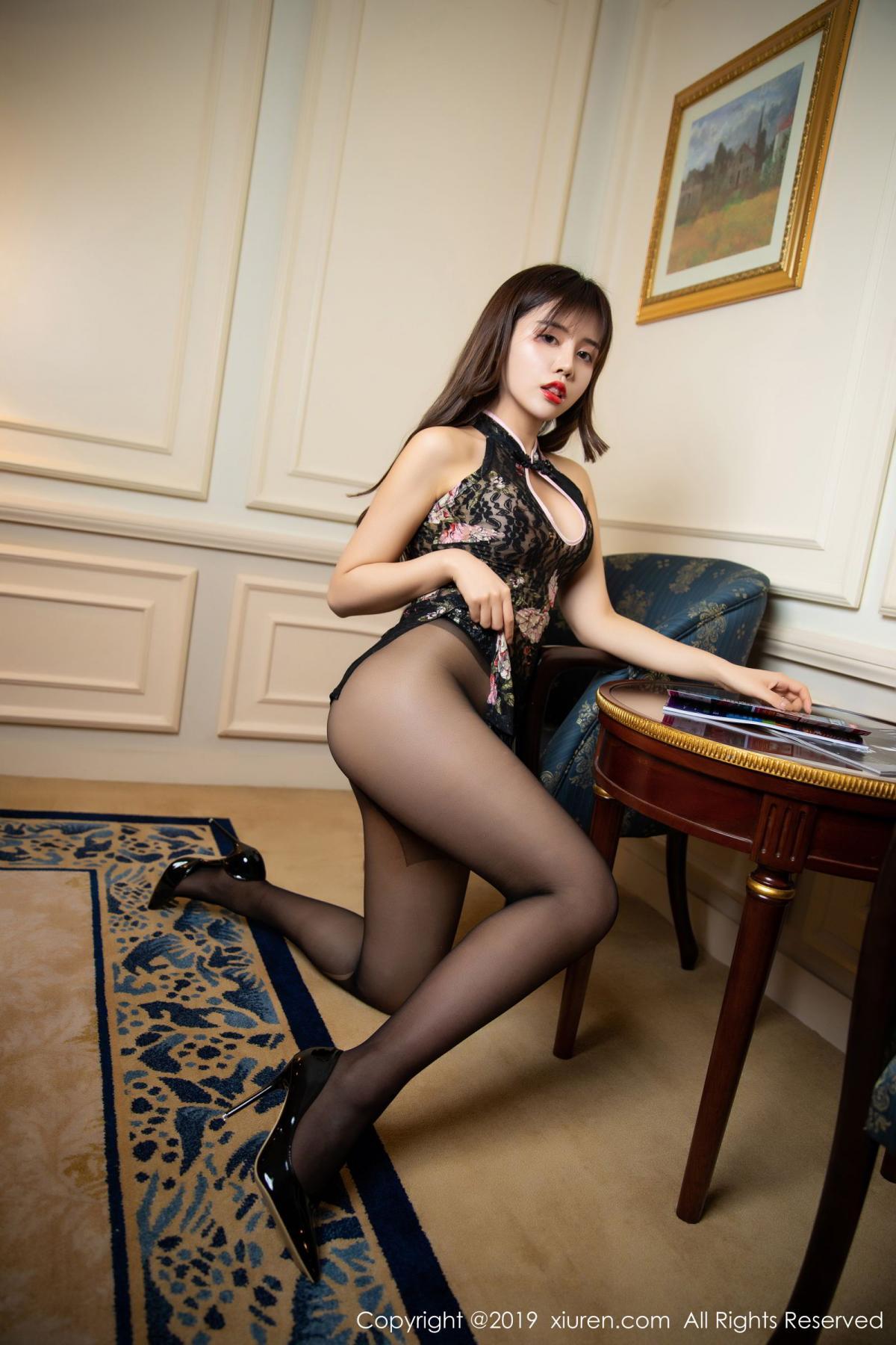 [XiuRen] Vol.1677 Zhuo Ya Qi 33P, Black Silk, Underwear, Xiuren, Zhuo Ya Qi