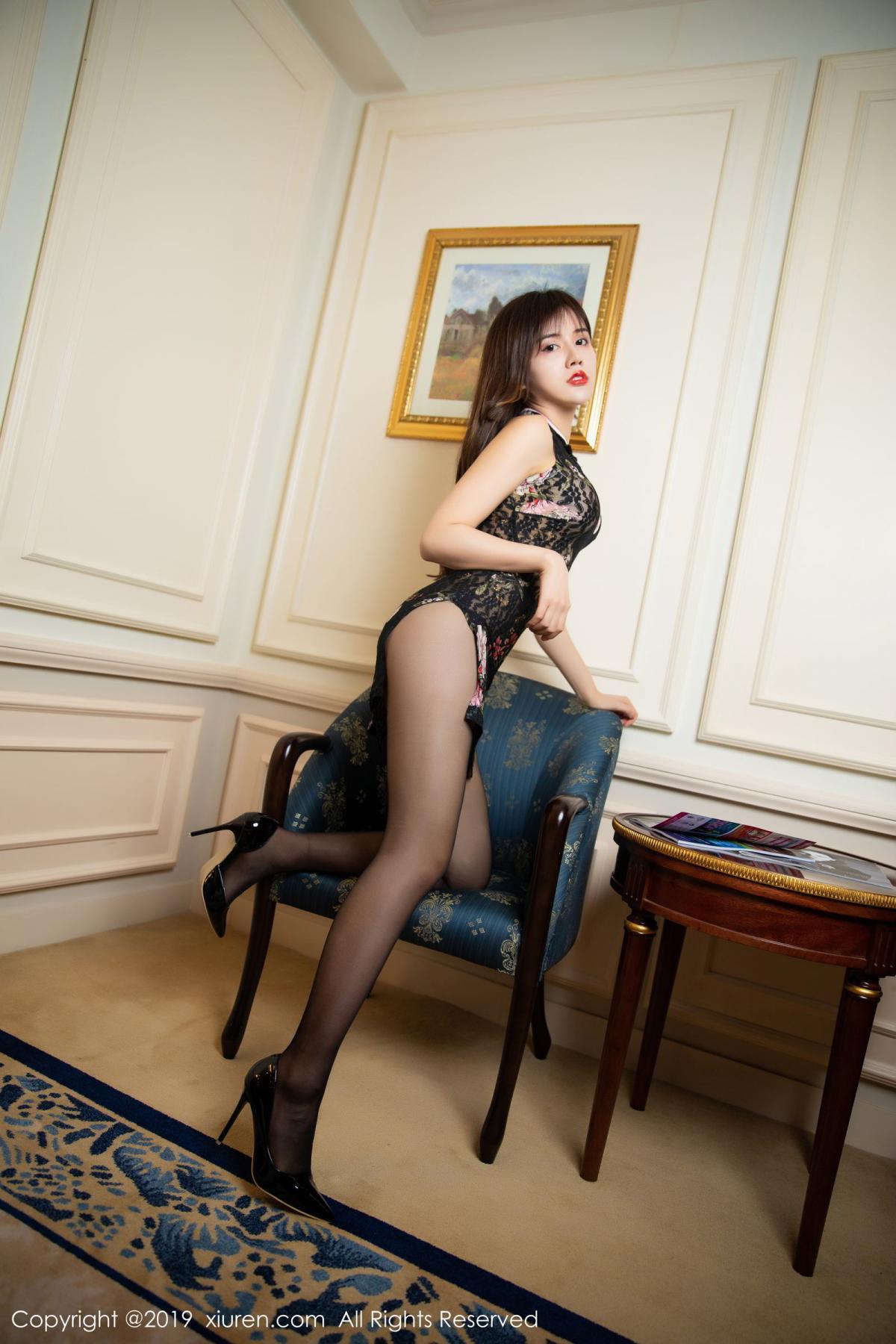 [XiuRen] Vol.1677 Zhuo Ya Qi 3P, Black Silk, Underwear, Xiuren, Zhuo Ya Qi