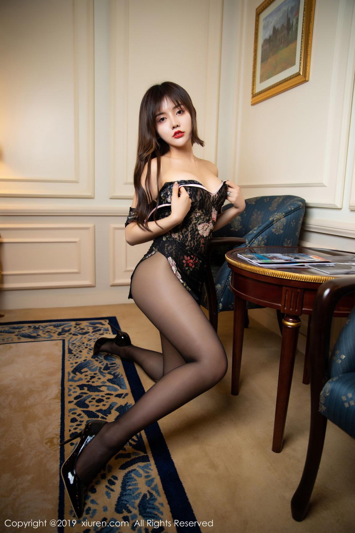 [XiuRen] Vol.1677 Zhuo Ya Qi 40P, Black Silk, Underwear, Xiuren, Zhuo Ya Qi