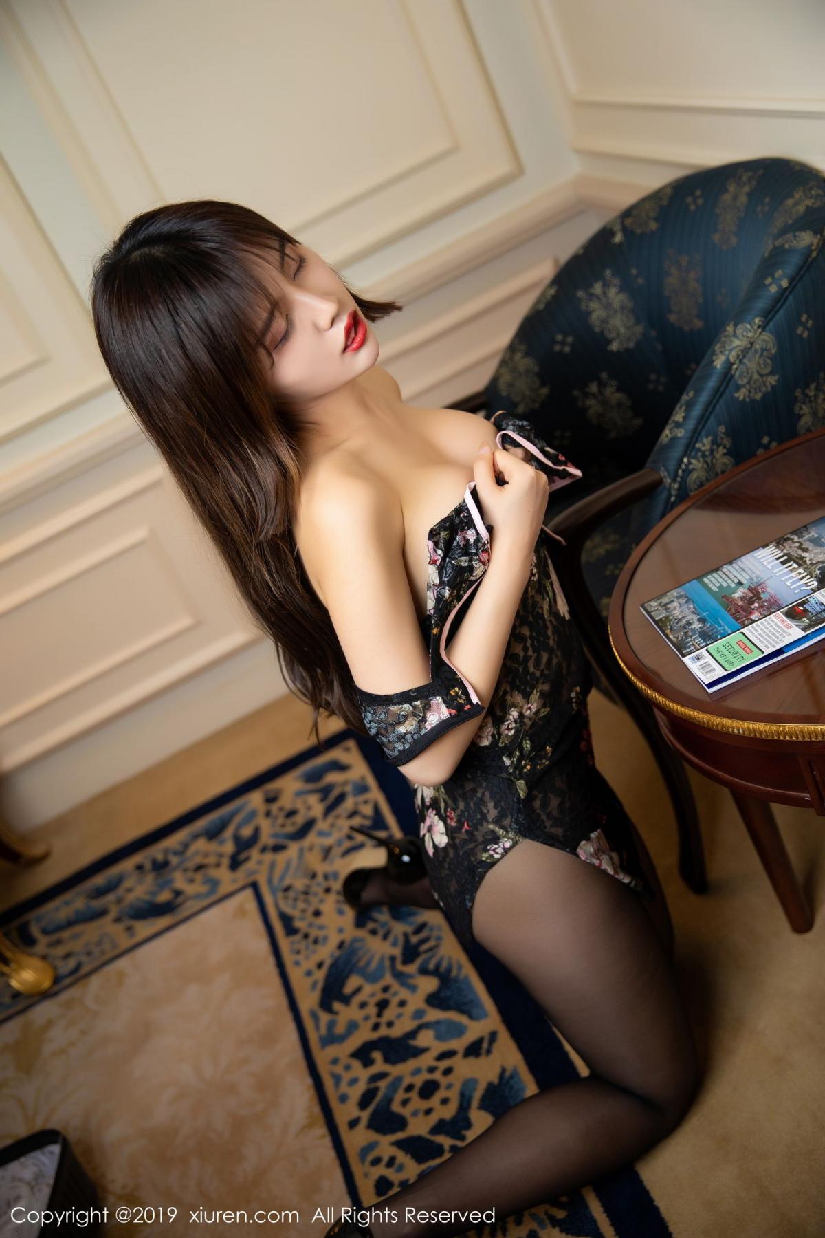 [XiuRen] Vol.1677 Zhuo Ya Qi 43P, Black Silk, Underwear, Xiuren, Zhuo Ya Qi