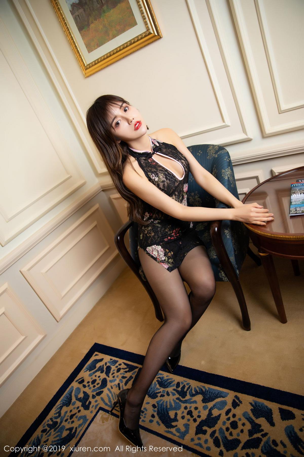 [XiuRen] Vol.1677 Zhuo Ya Qi 8P, Black Silk, Underwear, Xiuren, Zhuo Ya Qi