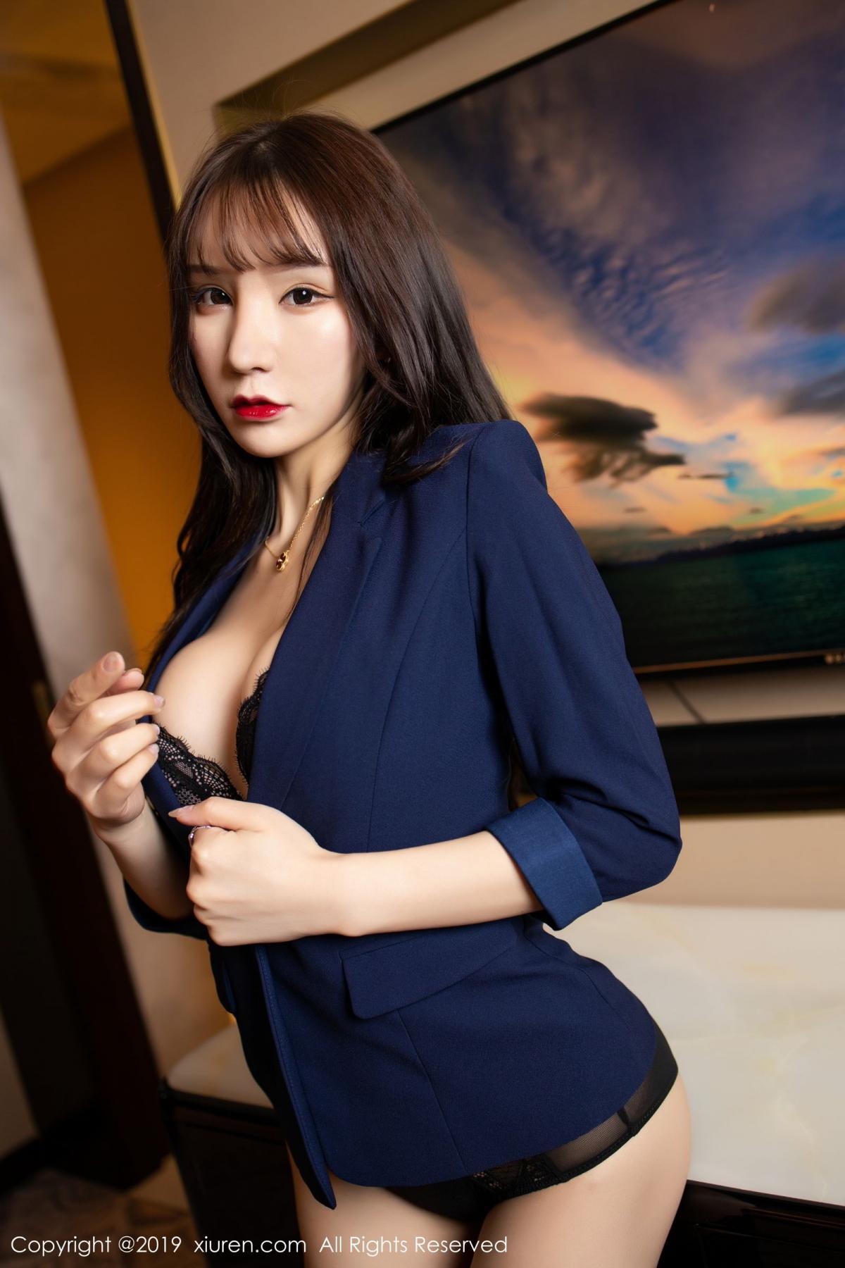 [XiuRen] Vol.1680 Zhou Yu Xi 10P, Black Silk, Underwear, Xiuren, Zhou Yu Xi