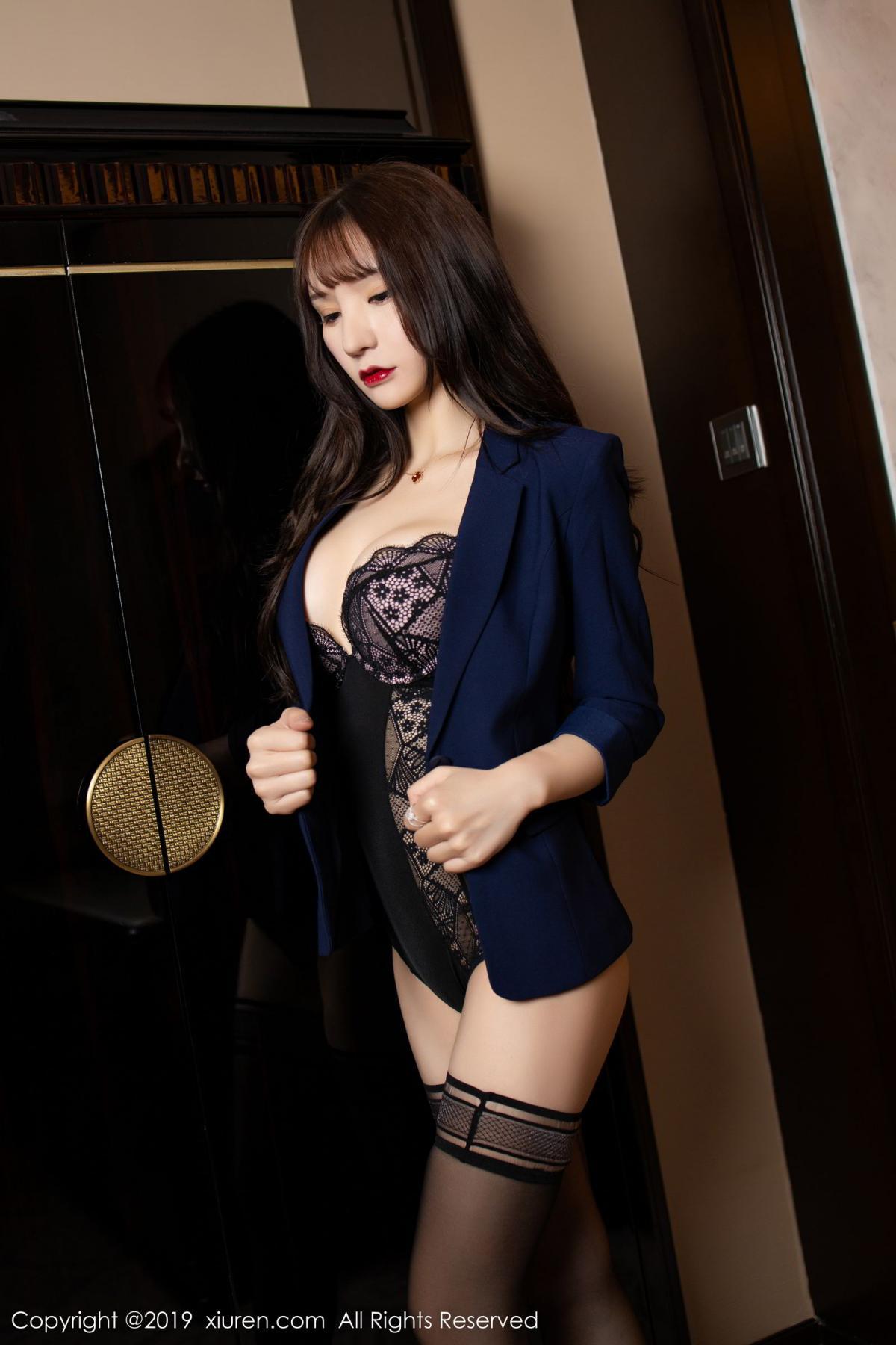 [XiuRen] Vol.1680 Zhou Yu Xi 18P, Black Silk, Underwear, Xiuren, Zhou Yu Xi