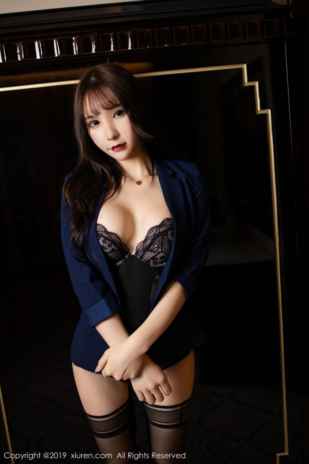 [XiuRen] Vol.1680 Zhou Yu Xi 20P, Black Silk, Underwear, Xiuren, Zhou Yu Xi