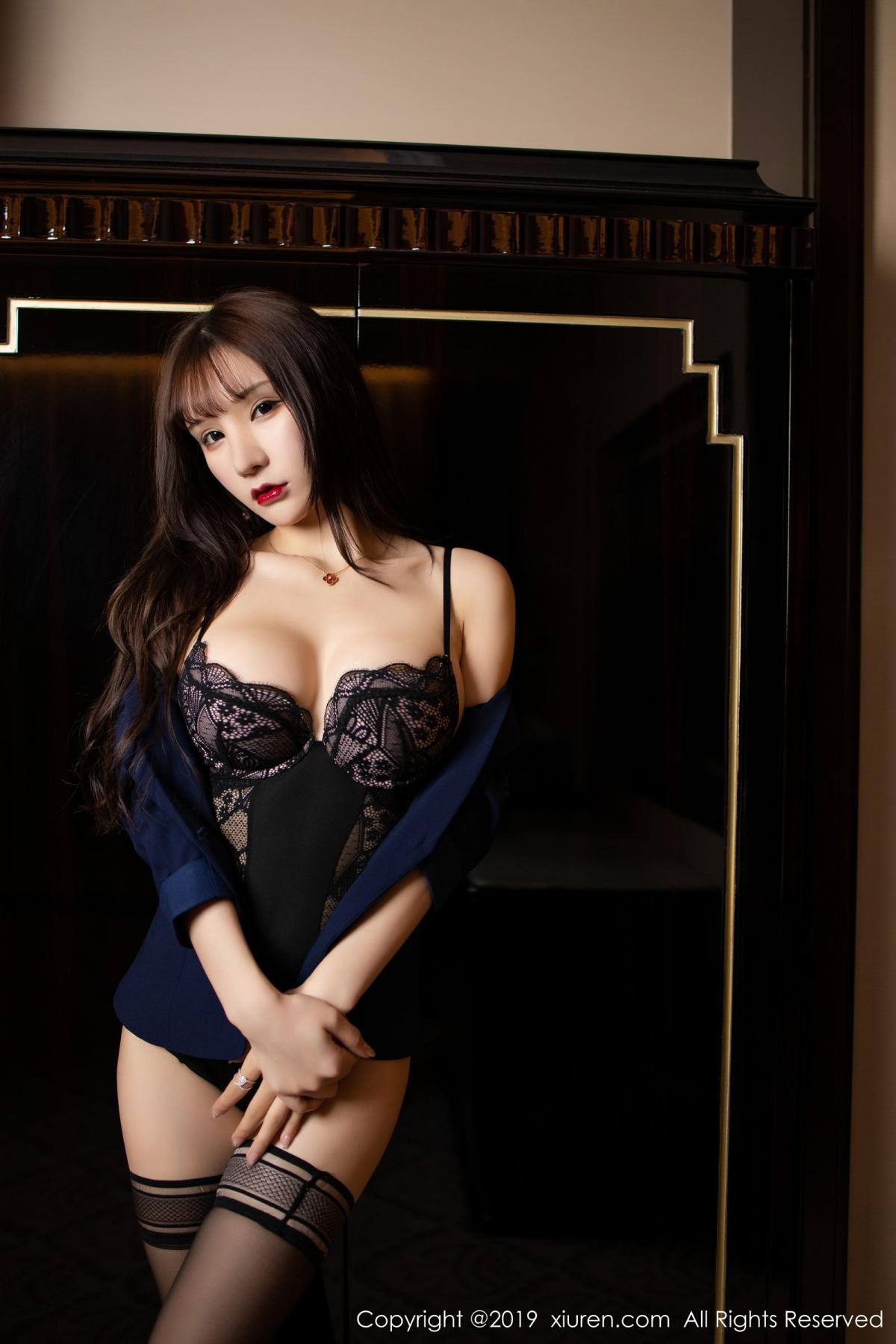 [XiuRen] Vol.1680 Zhou Yu Xi 23P, Black Silk, Underwear, Xiuren, Zhou Yu Xi