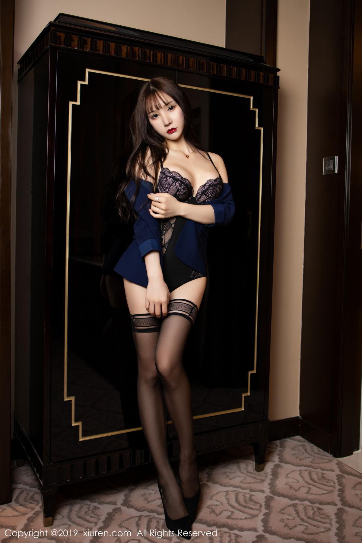 [XiuRen] Vol.1680 Zhou Yu Xi 24P, Black Silk, Underwear, Xiuren, Zhou Yu Xi