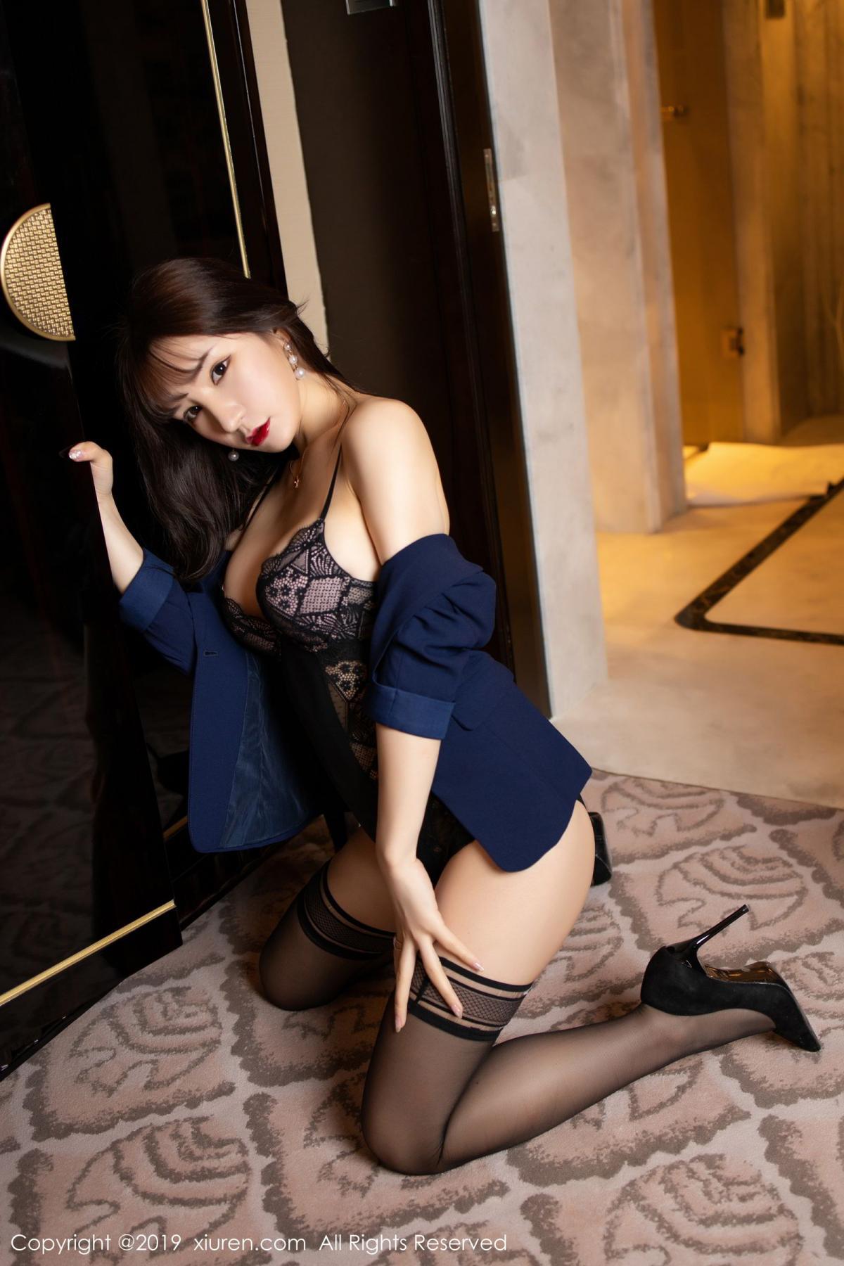 [XiuRen] Vol.1680 Zhou Yu Xi 28P, Black Silk, Underwear, Xiuren, Zhou Yu Xi