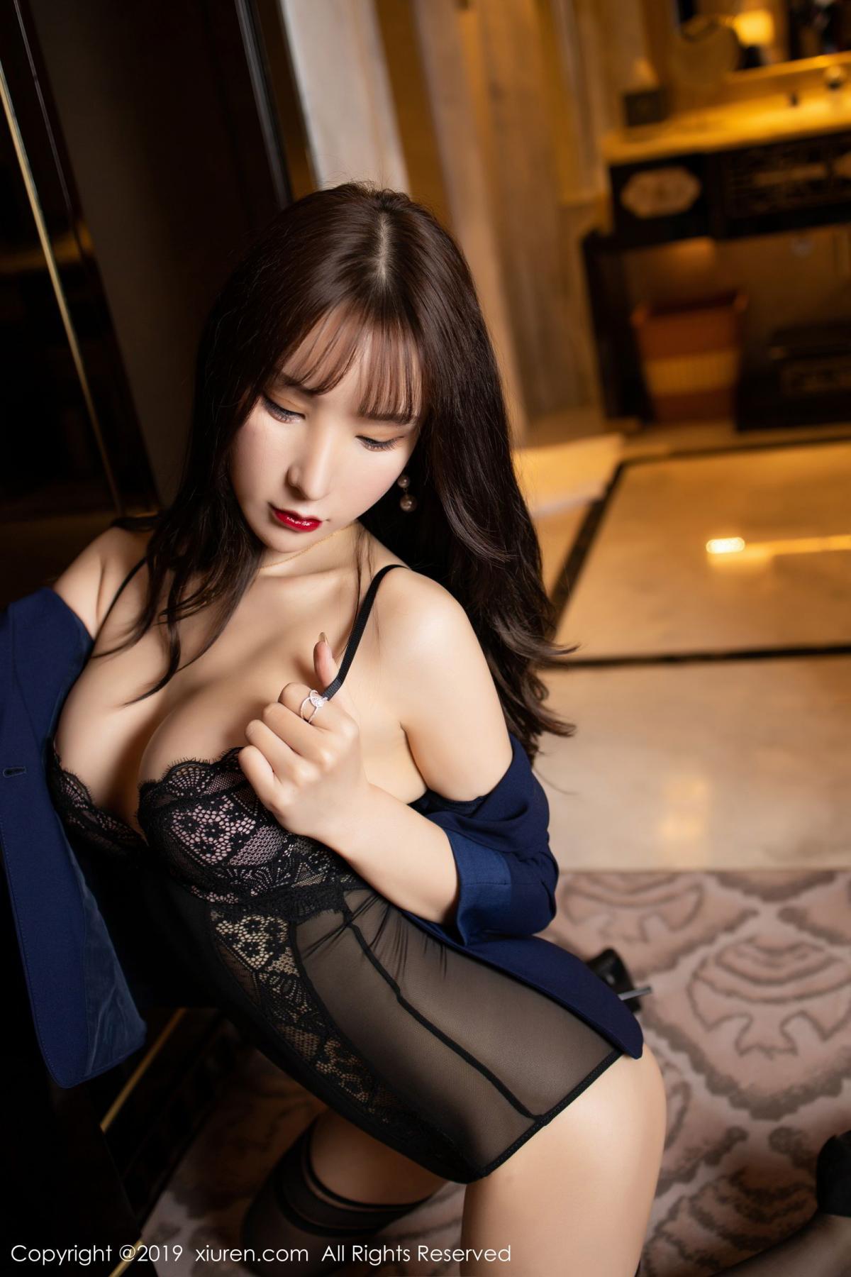[XiuRen] Vol.1680 Zhou Yu Xi 29P, Black Silk, Underwear, Xiuren, Zhou Yu Xi
