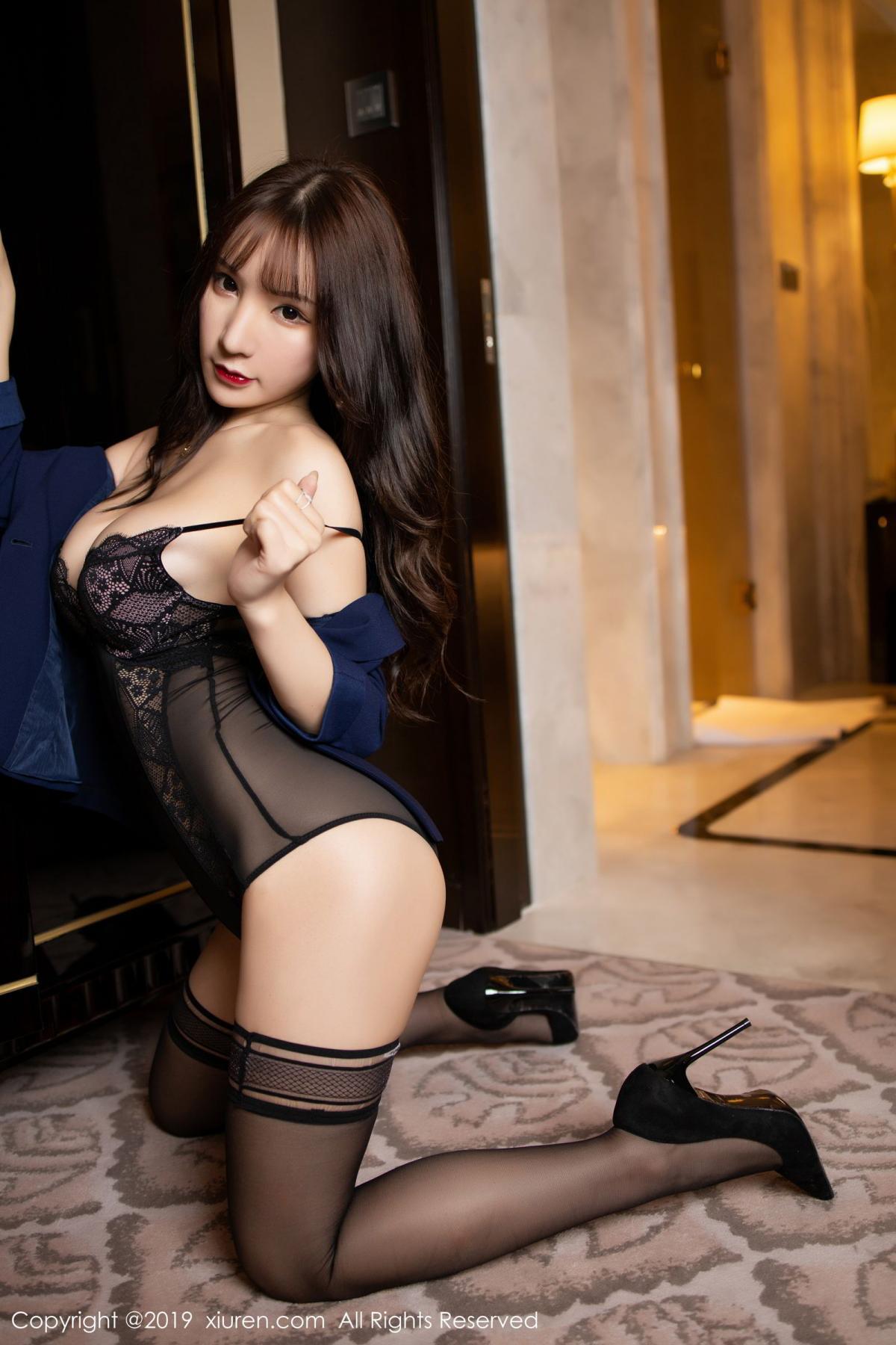 [XiuRen] Vol.1680 Zhou Yu Xi 31P, Black Silk, Underwear, Xiuren, Zhou Yu Xi