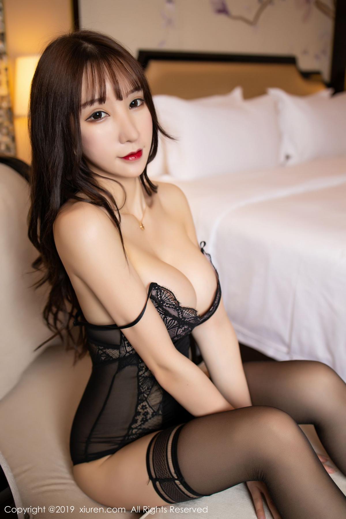 [XiuRen] Vol.1680 Zhou Yu Xi 48P, Black Silk, Underwear, Xiuren, Zhou Yu Xi