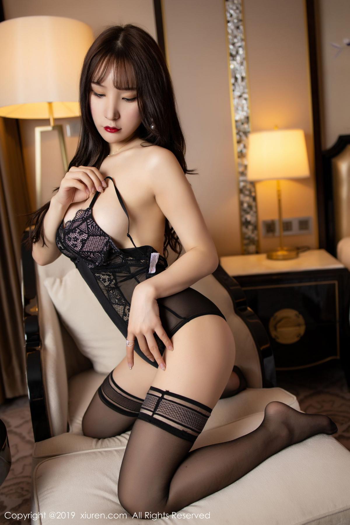 [XiuRen] Vol.1680 Zhou Yu Xi 50P, Black Silk, Underwear, Xiuren, Zhou Yu Xi