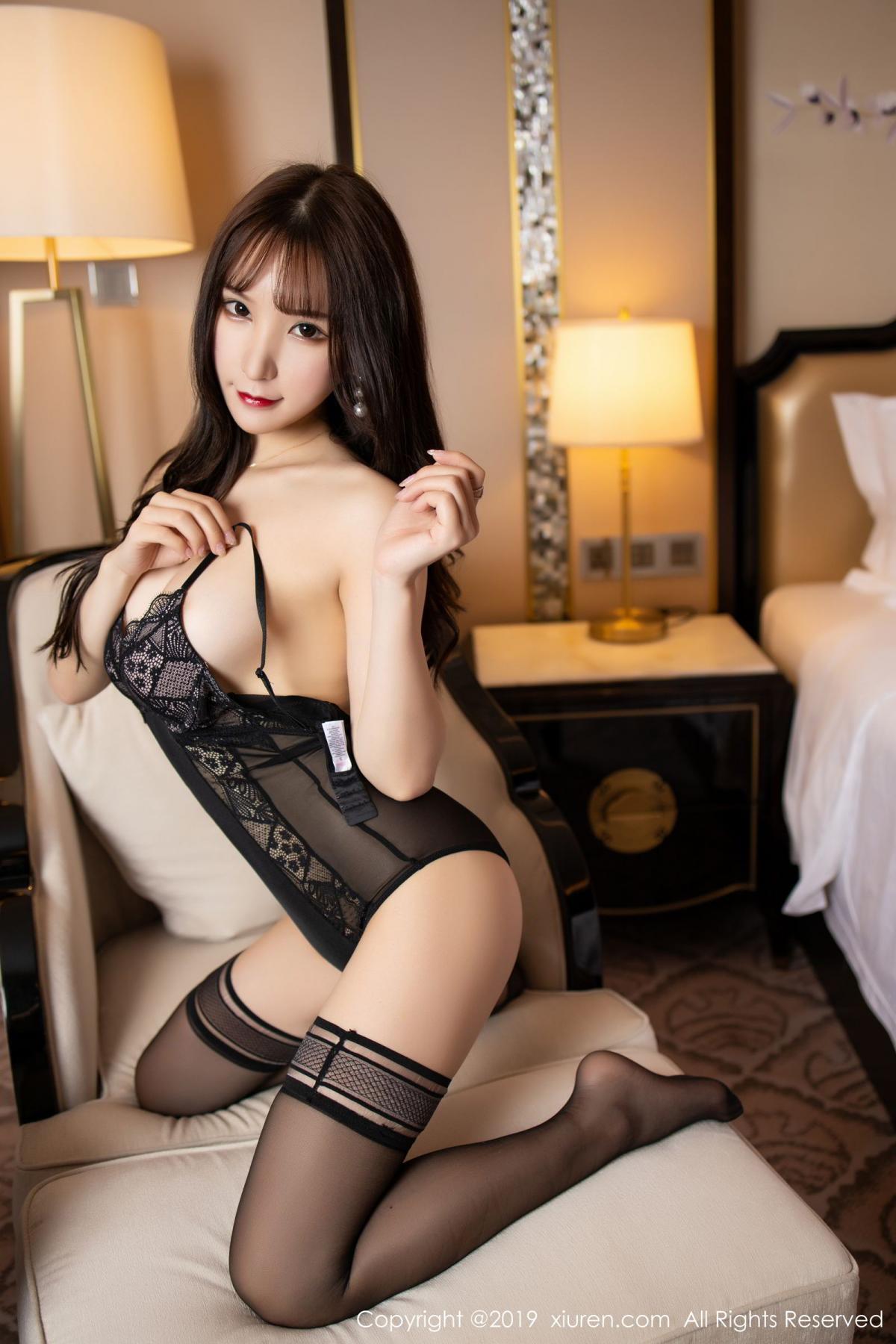 [XiuRen] Vol.1680 Zhou Yu Xi 51P, Black Silk, Underwear, Xiuren, Zhou Yu Xi