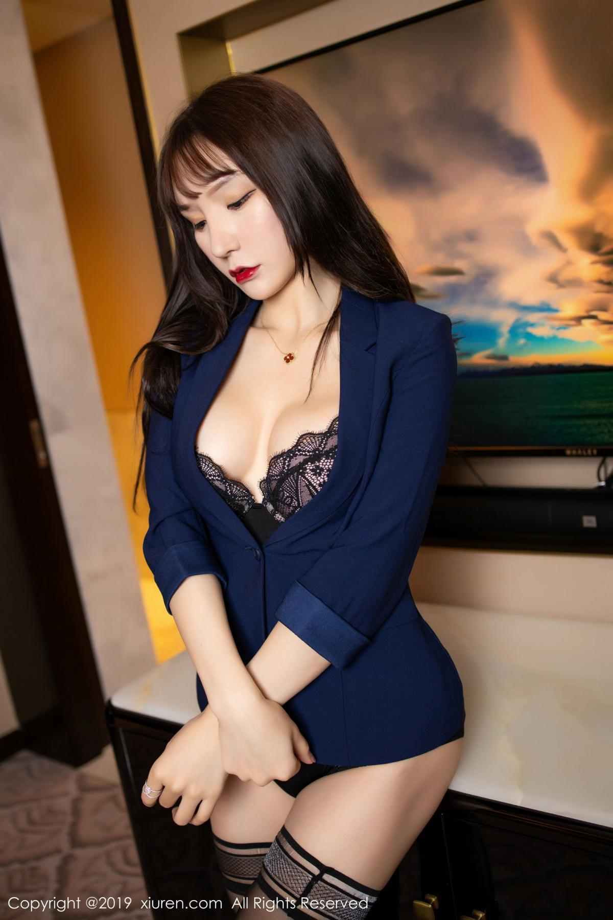 [XiuRen] Vol.1680 Zhou Yu Xi 9P, Black Silk, Underwear, Xiuren, Zhou Yu Xi