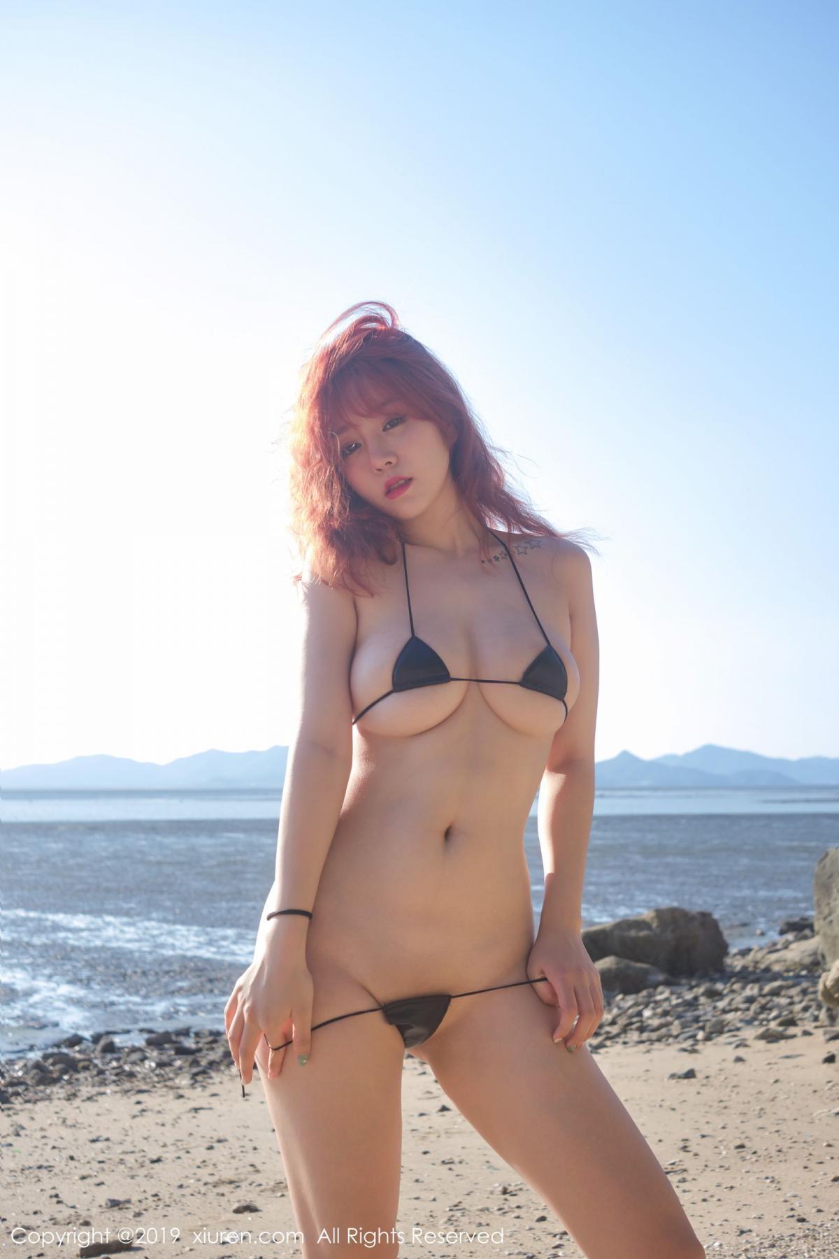 [XiuRen] Vol.1681 Wang Yu Chun 50P, Beach, Bikini, Wang Yu Chun, Xiuren