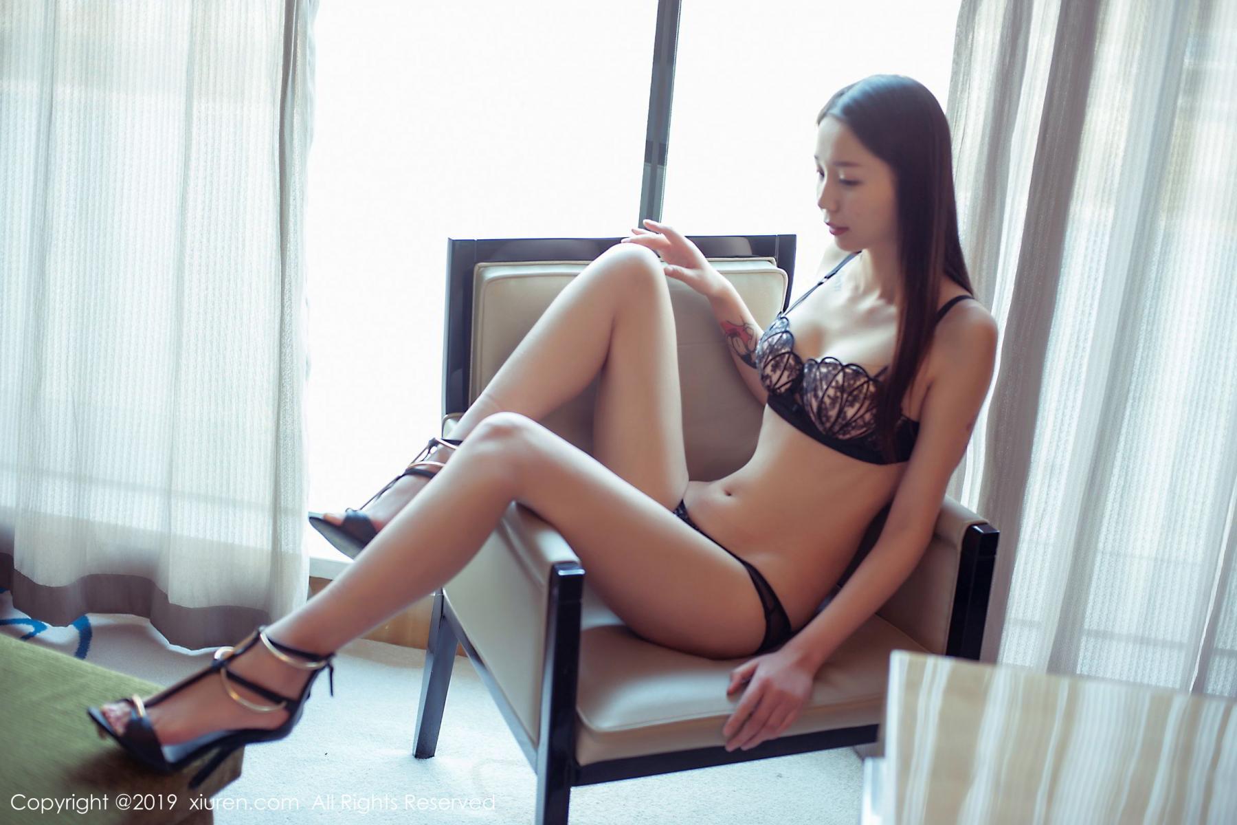 [XiuRen] Vol.1682 Bai Mo 11P, Bai Mo, Black Silk, Underwear, Xiuren
