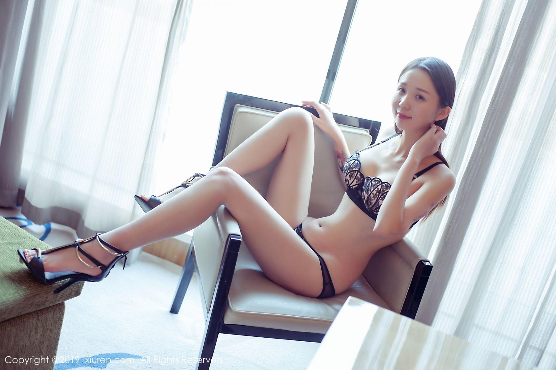 [XiuRen] Vol.1682 Bai Mo 12P, Bai Mo, Black Silk, Underwear, Xiuren