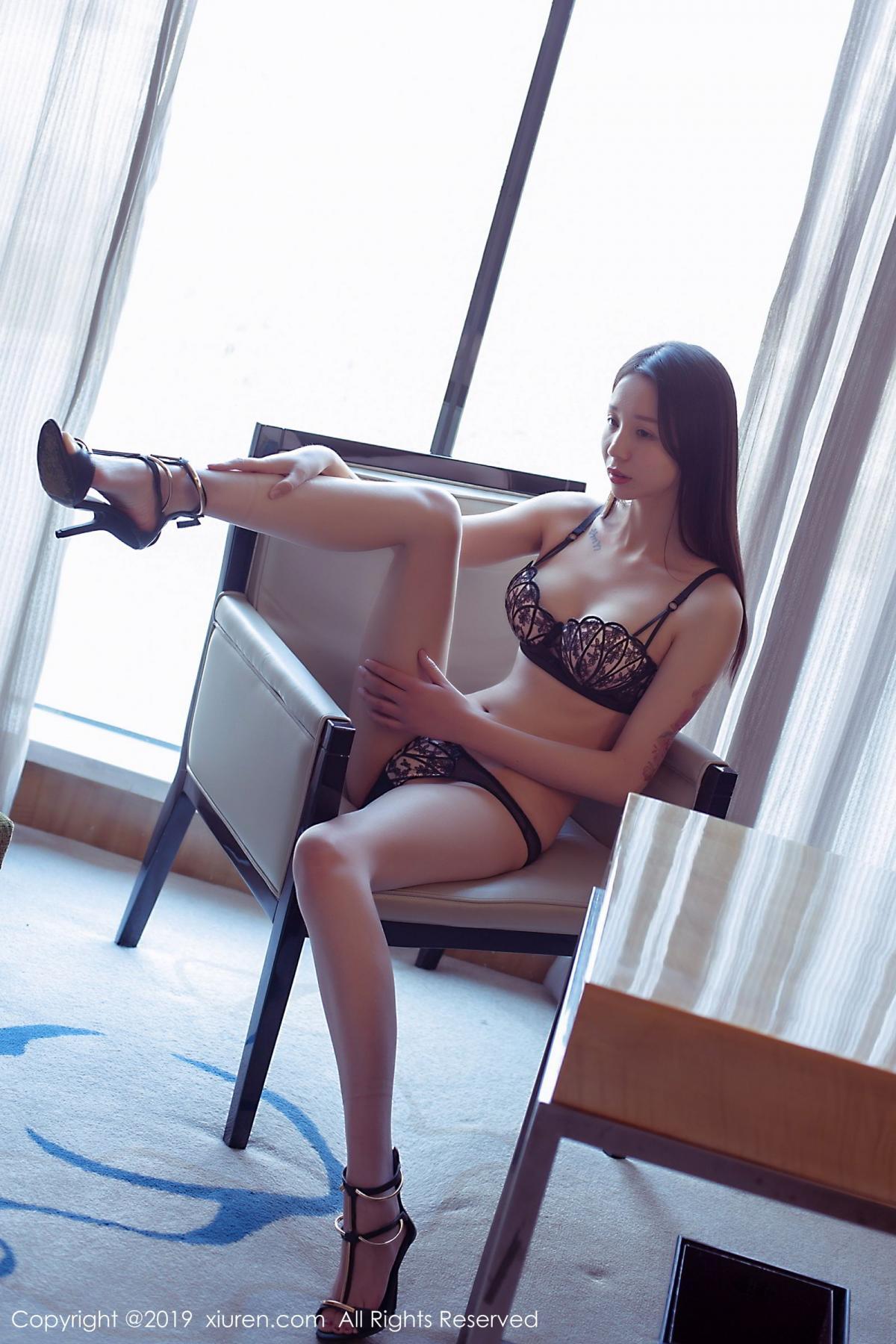 [XiuRen] Vol.1682 Bai Mo 14P, Bai Mo, Black Silk, Underwear, Xiuren