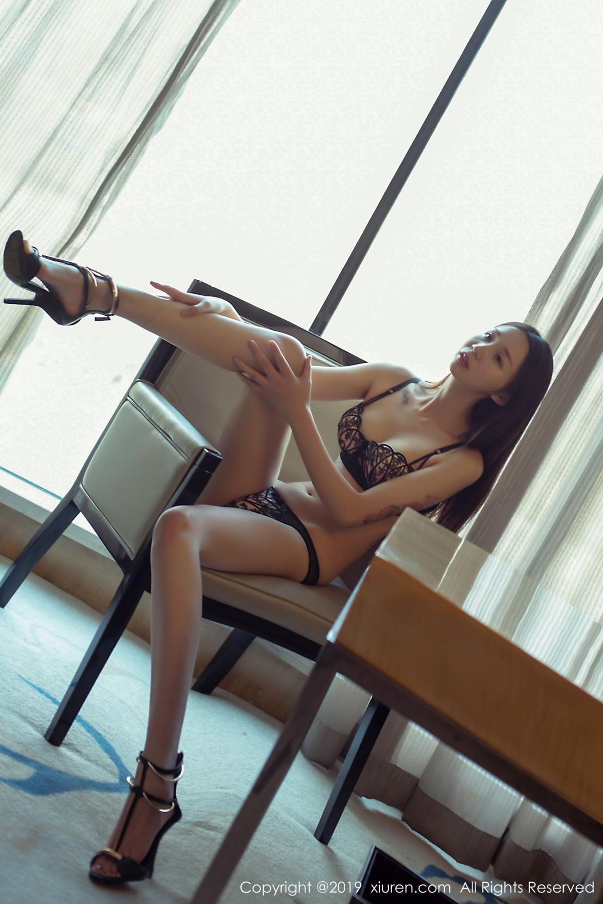 [XiuRen] Vol.1682 Bai Mo 15P, Bai Mo, Black Silk, Underwear, Xiuren