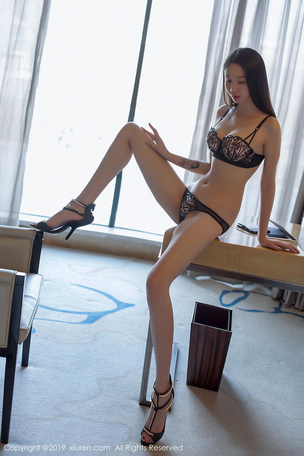 [XiuRen] Vol.1682 Bai Mo 19P, Bai Mo, Black Silk, Underwear, Xiuren