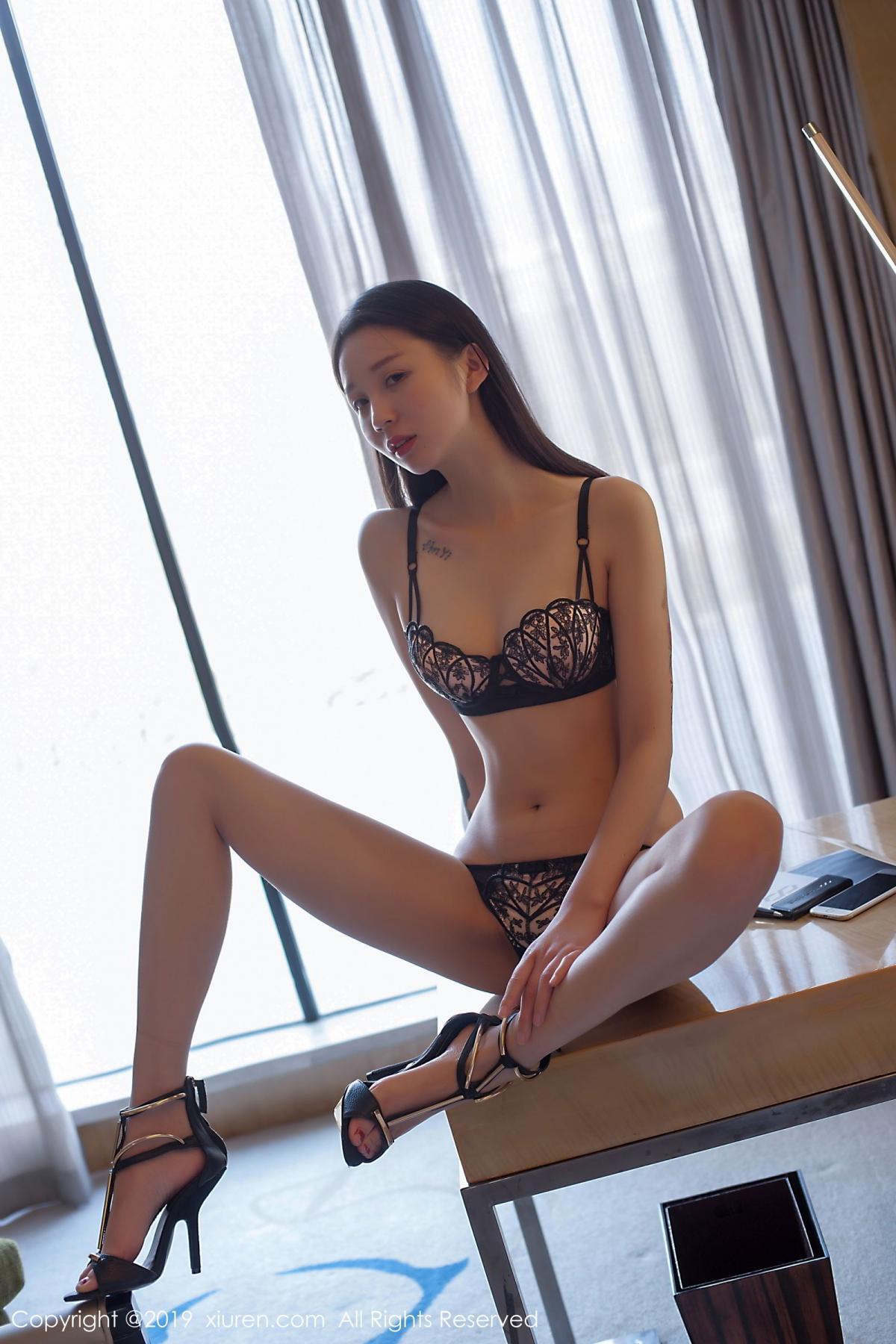 [XiuRen] Vol.1682 Bai Mo 1P, Bai Mo, Black Silk, Underwear, Xiuren