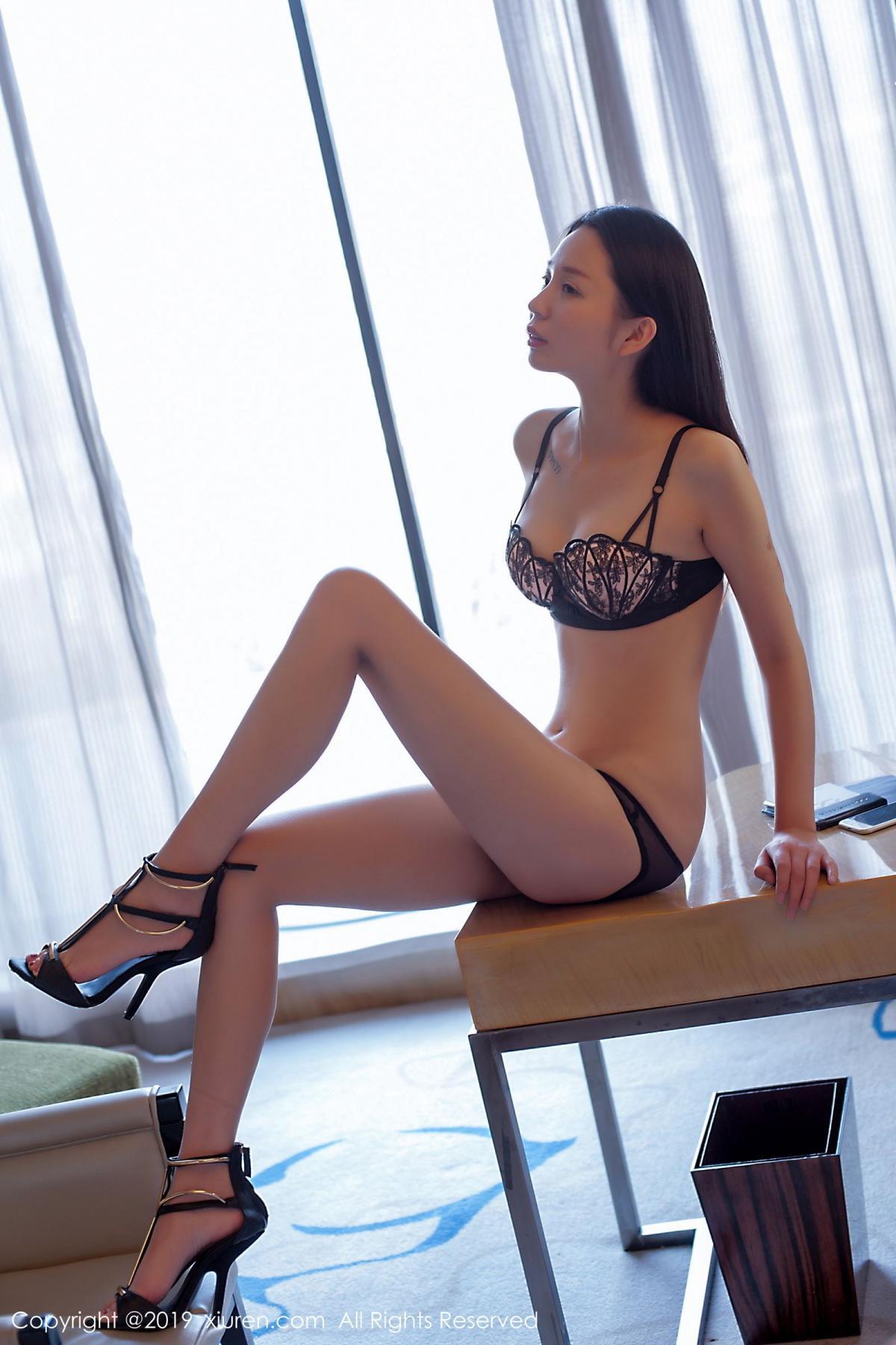 [XiuRen] Vol.1682 Bai Mo 24P, Bai Mo, Black Silk, Underwear, Xiuren