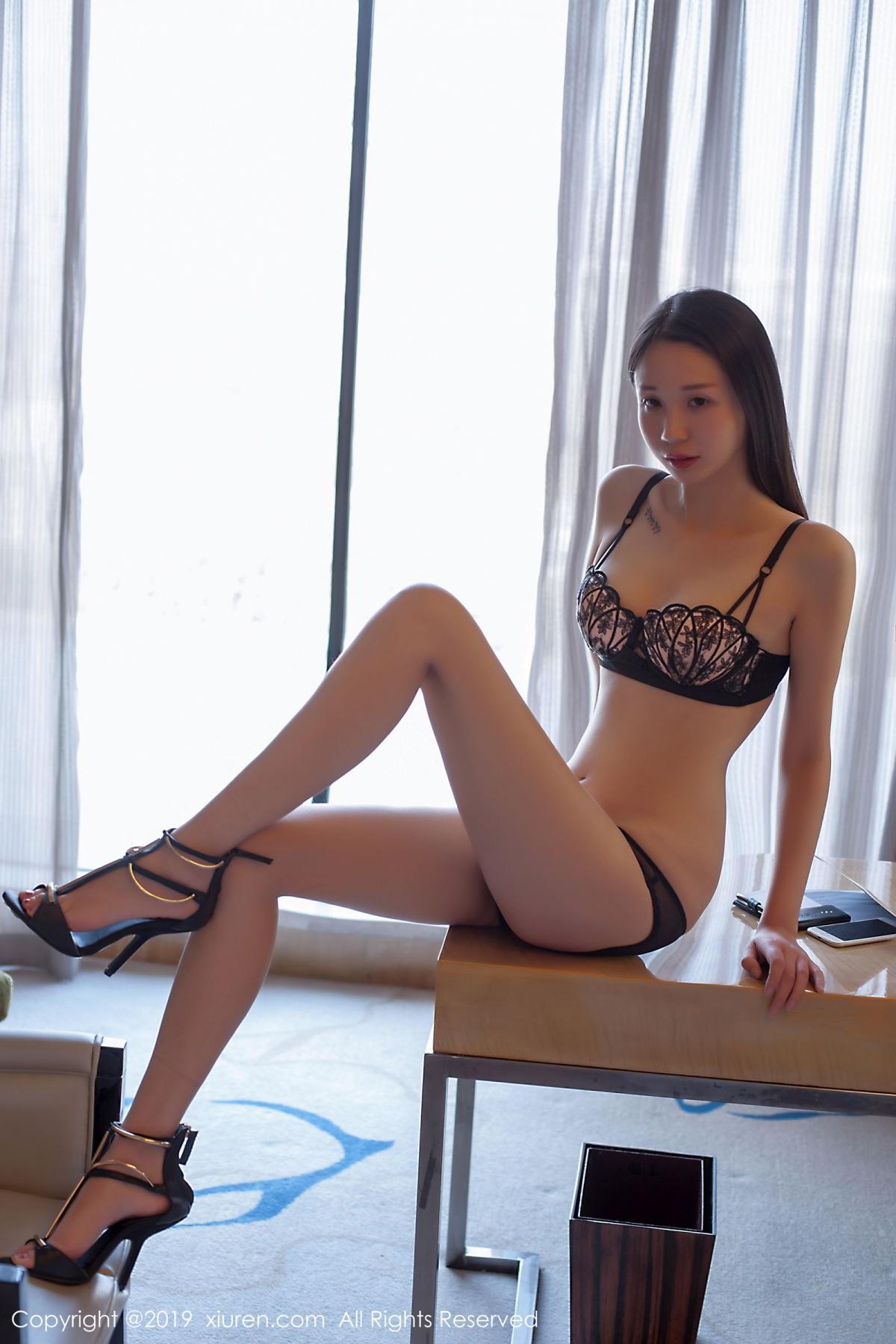 [XiuRen] Vol.1682 Bai Mo 25P, Bai Mo, Black Silk, Underwear, Xiuren