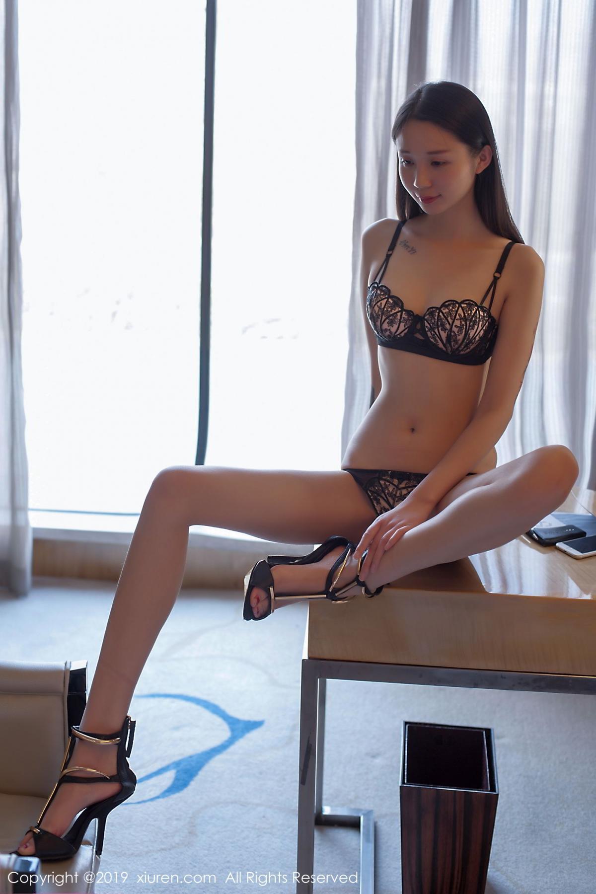 [XiuRen] Vol.1682 Bai Mo 26P, Bai Mo, Black Silk, Underwear, Xiuren
