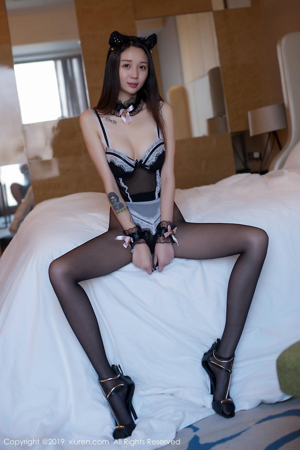 [XiuRen] Vol.1682 Bai Mo 33P, Bai Mo, Black Silk, Underwear, Xiuren